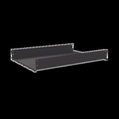 Charola Fija de Sujeción Lateral, 60 cm de Profundidad, 2U. Compatible con LP-60100-XX-UR2