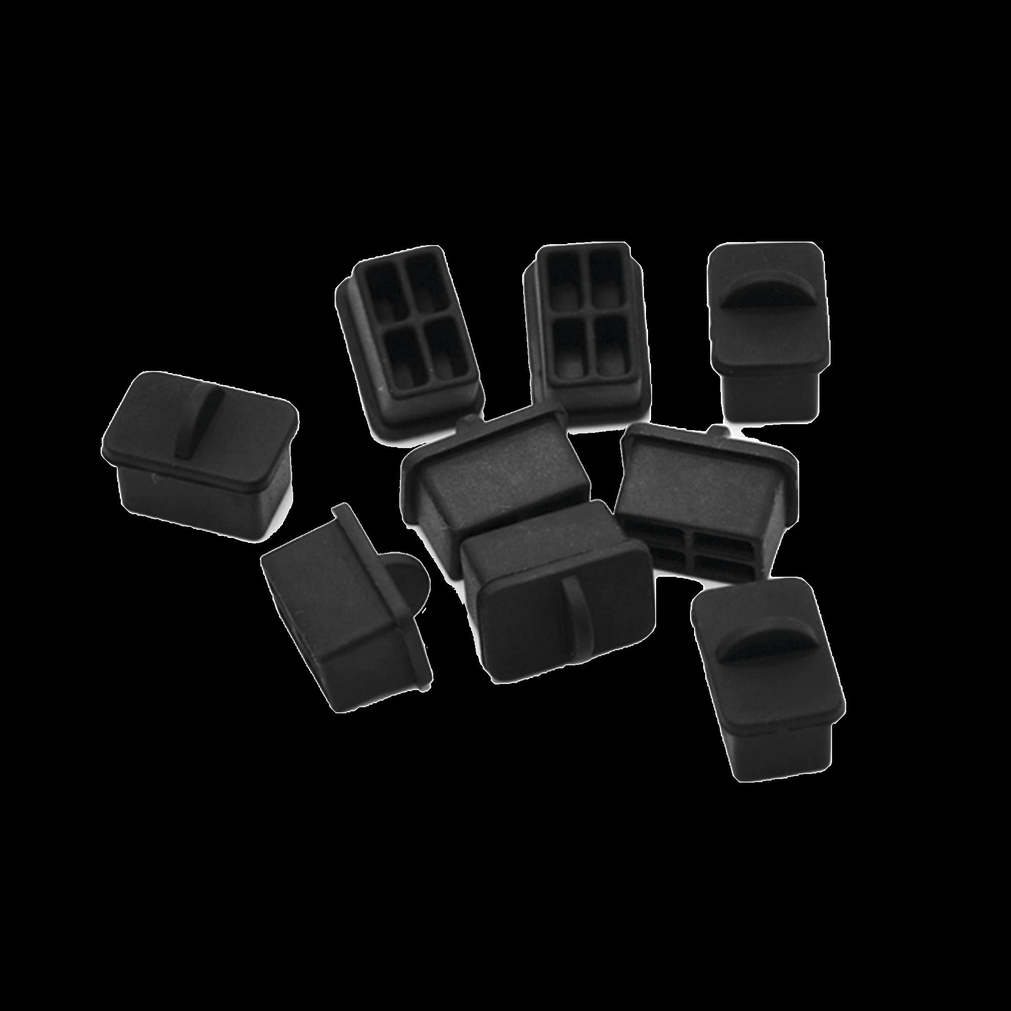 Bolsa con 25 piezas de protectores anti-polvo para puerto SFP, color negro