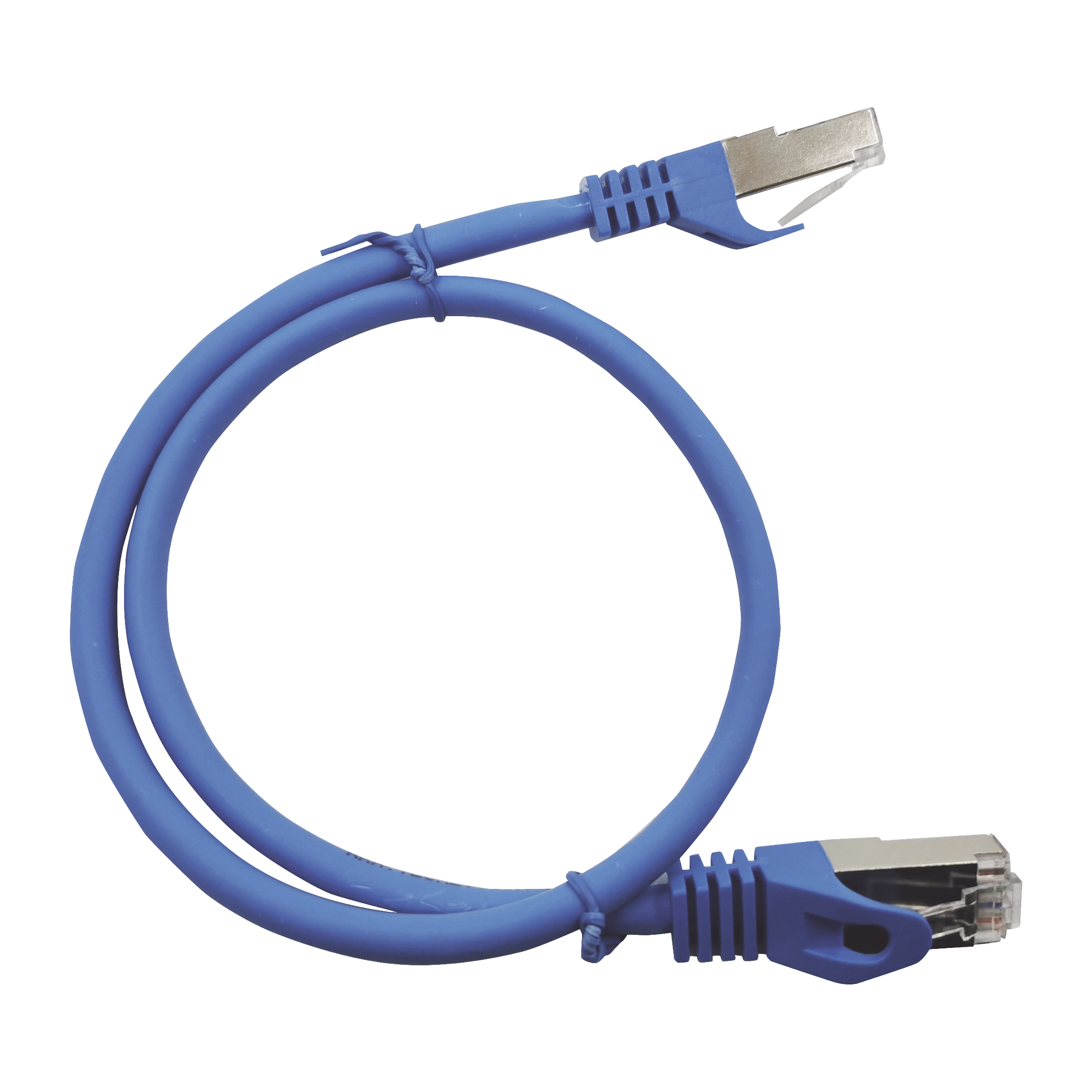 Patch Cord Cat6A 10G blindado  2M ( 6.25 ft ) AZUL