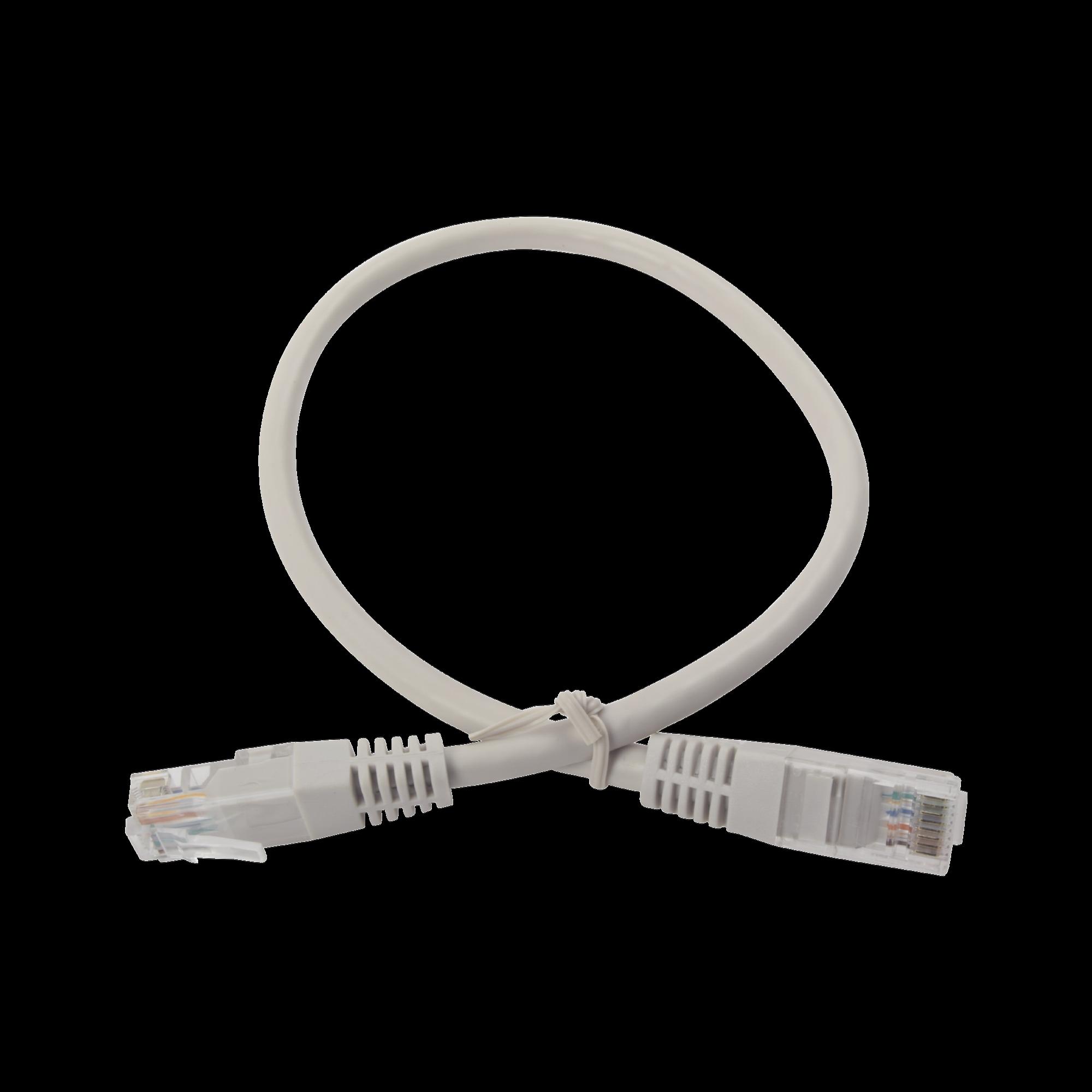 Cable de parcheo UTP cruzado Cat6 0.4 m - Gris