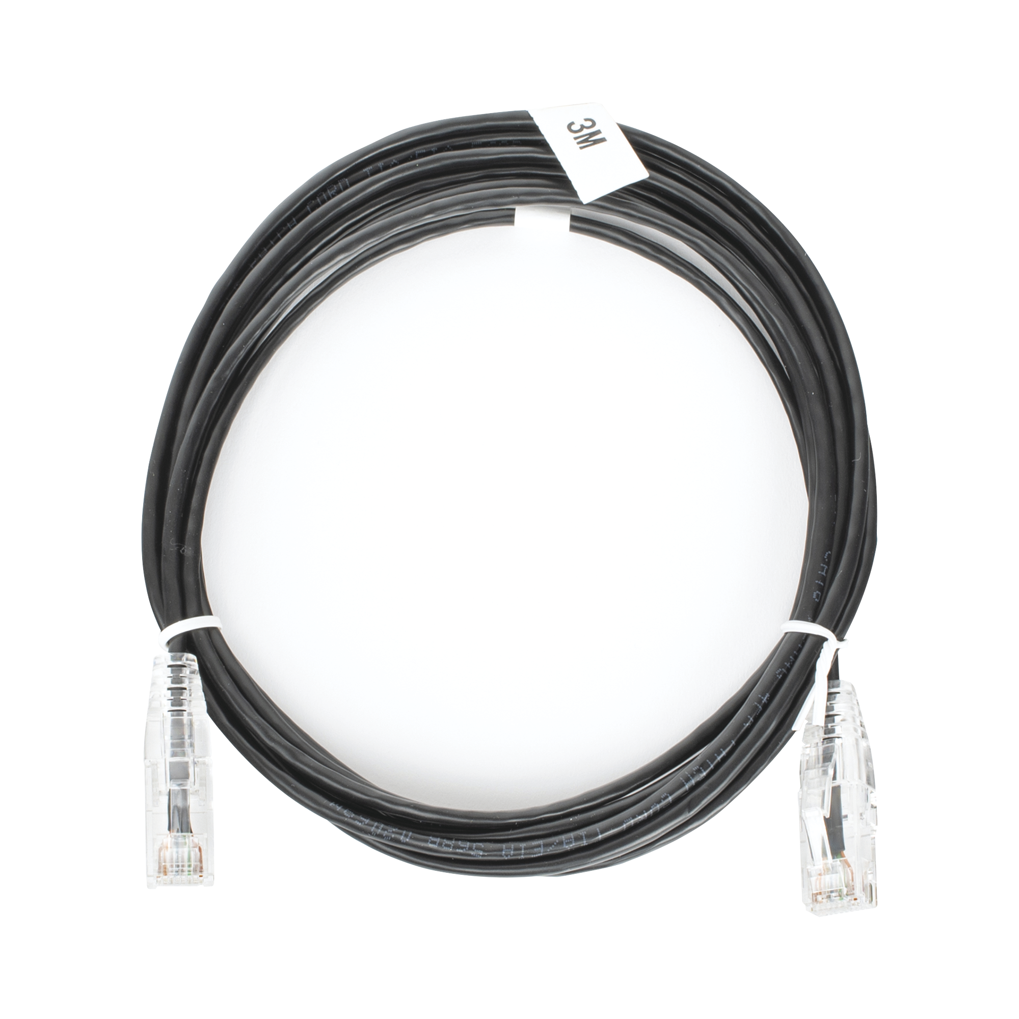 Cable de Parcheo Slim UTP Cat6 - 3 m Negro Diámetro Reducido (28 AWG)