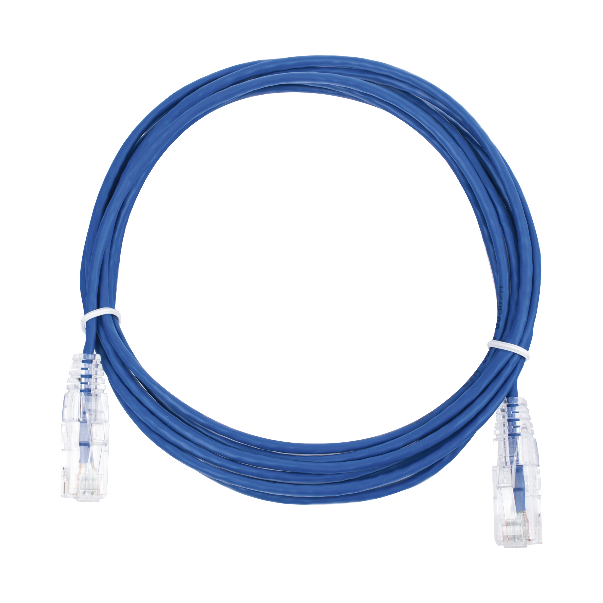 Cable de Parcheo Slim UTP Cat6 - 3 m Azul Diámetro Reducido (28 AWG)
