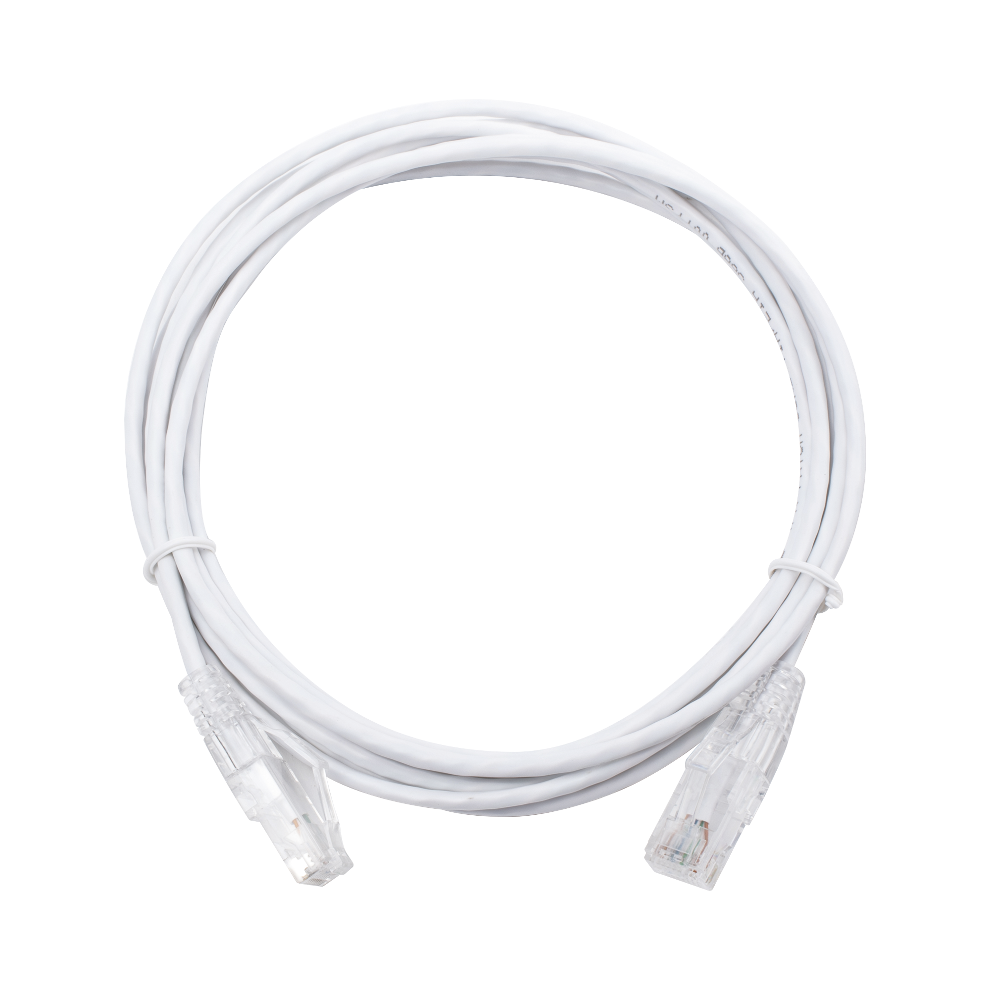 Cable de Parcheo Slim UTP Cat6 - 3 m Blanco Diámetro Reducido (28 AWG)