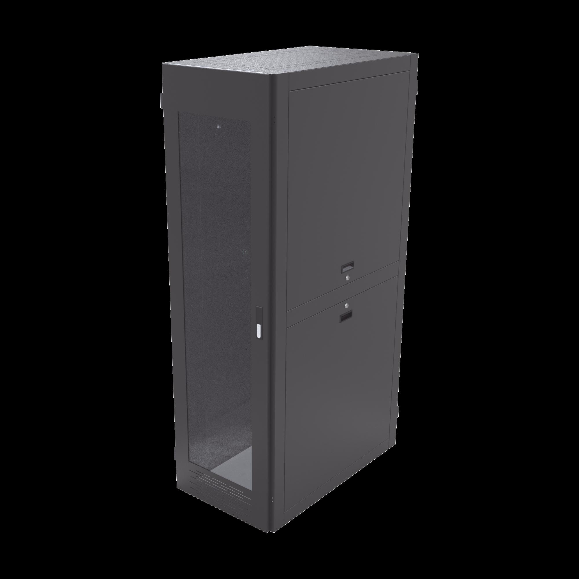 Gabinete para Telecomunicaciones Rack Estándar de 19, 42UR, 600 mm Ancho x 1000 mm Profundidad. Fabricado en Acero.