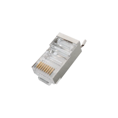 Conector RJ45 para Cable FTP/STP Categoría 5E - Blindado con pin a tierra