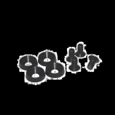 Kit de 4 tornillos y 4 arandelas de plástico para instalación de equipo en rack