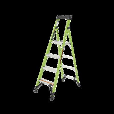 Escalera de Aluminio + Fibra de Vidrio de 1.8m con Soporte para Herramienta. !La Más Liviana del Mundo!