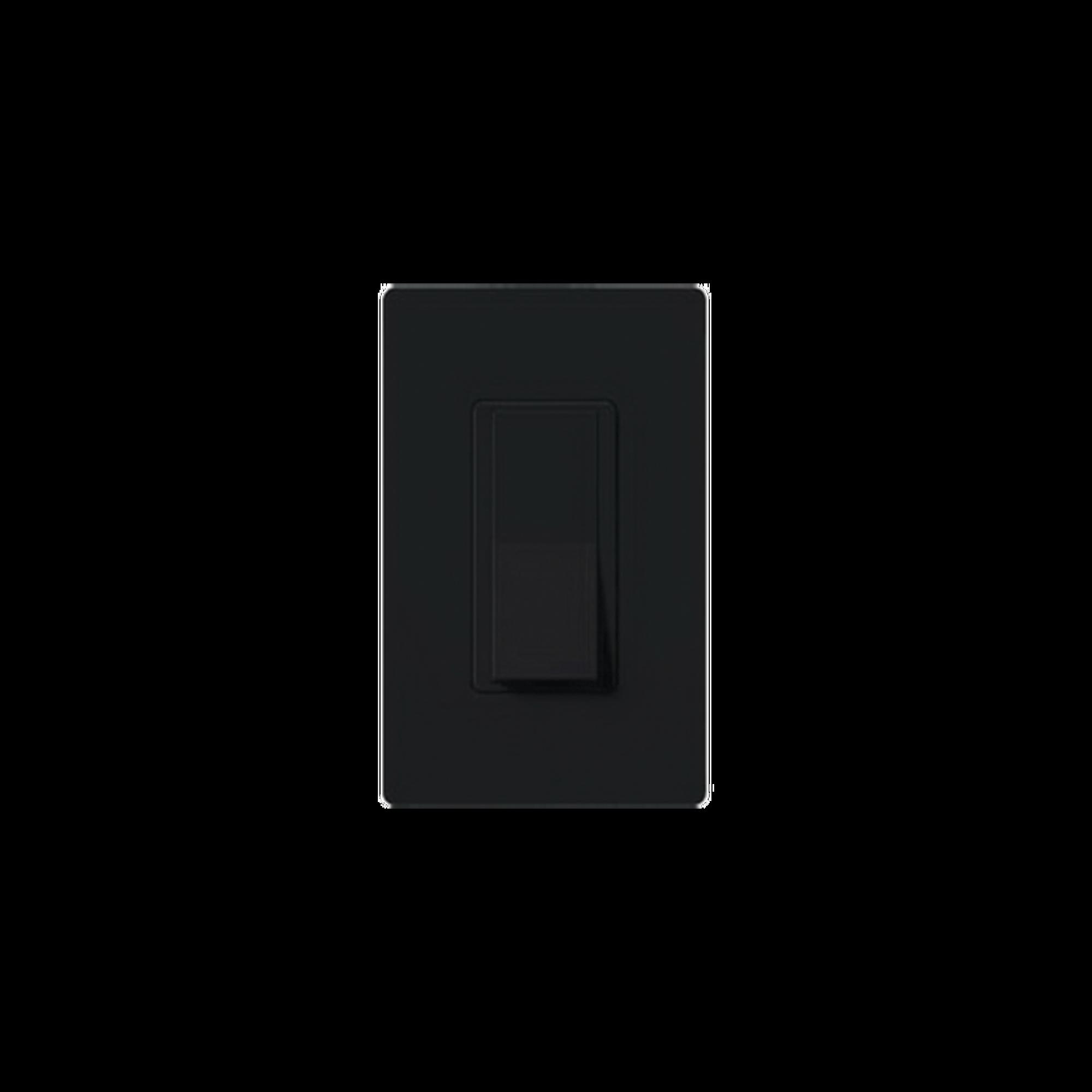 Switch un solo polo 15 Amp negro nigth