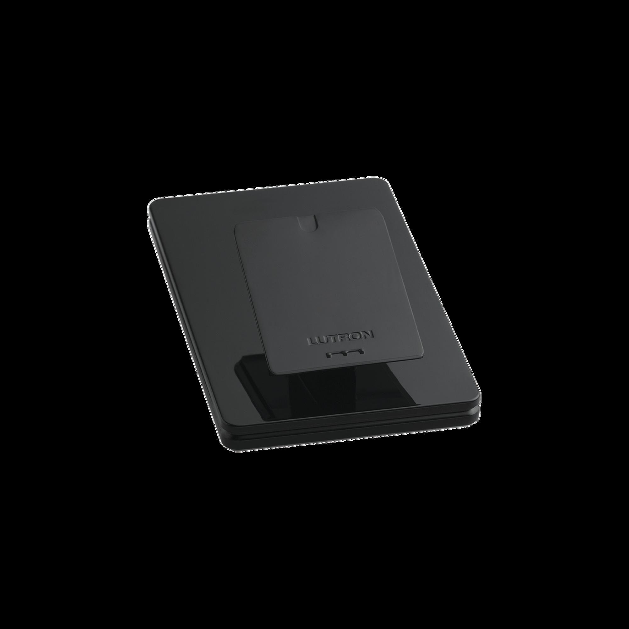Base de mesa para un control remoto inalámbrico LUTRON. Con goma para evitar deslizamiento.