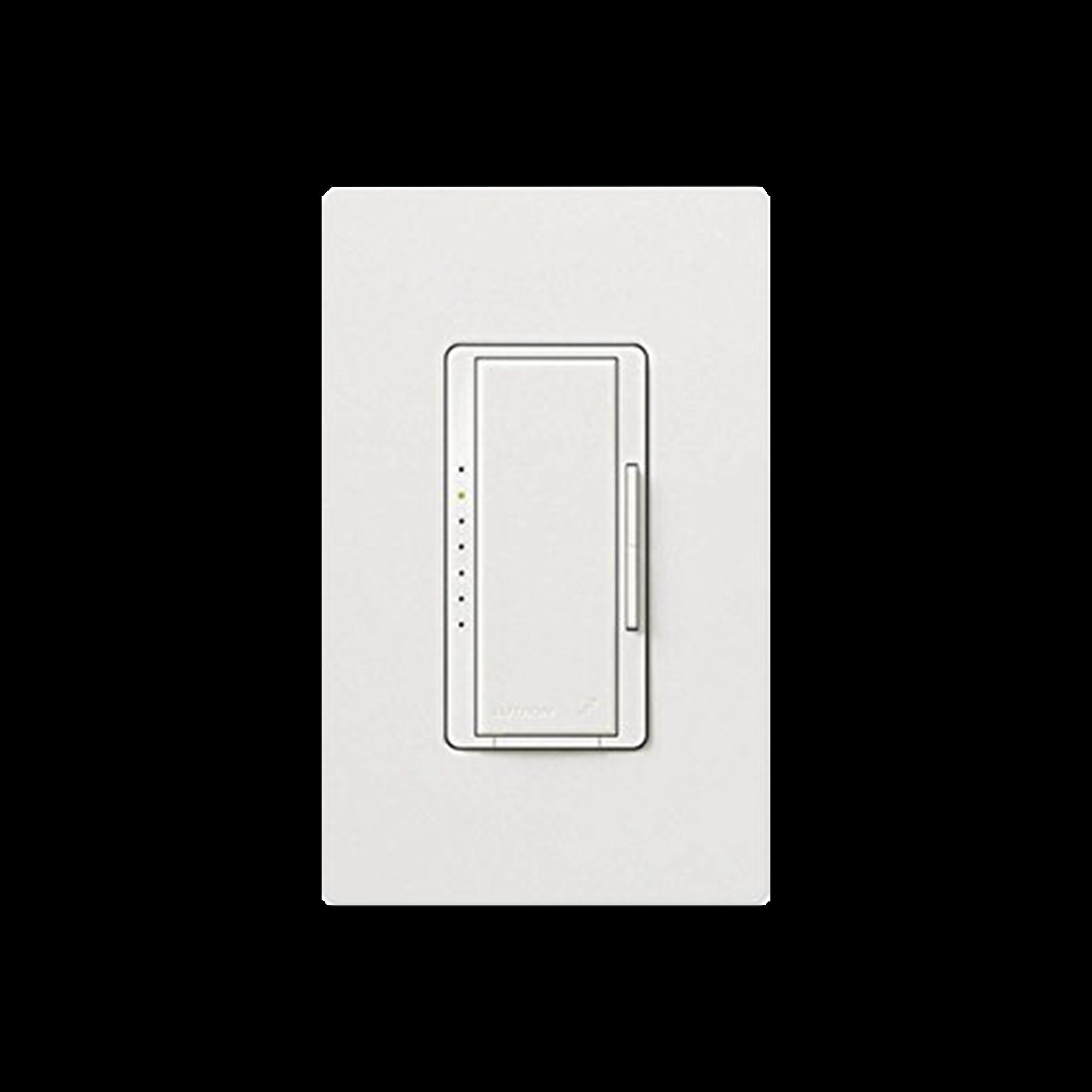 Dimmer para iluminación CFL/LED o Incandescente/Halogeno 600 Watt Max, blanco