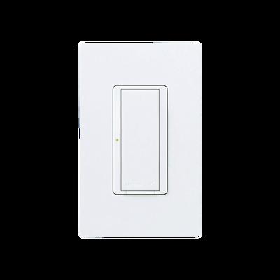 Switch interruptor on/off, 8A iluminacion, 1/10HP fan @120V,  120-277 V, no requiere cable neutro.