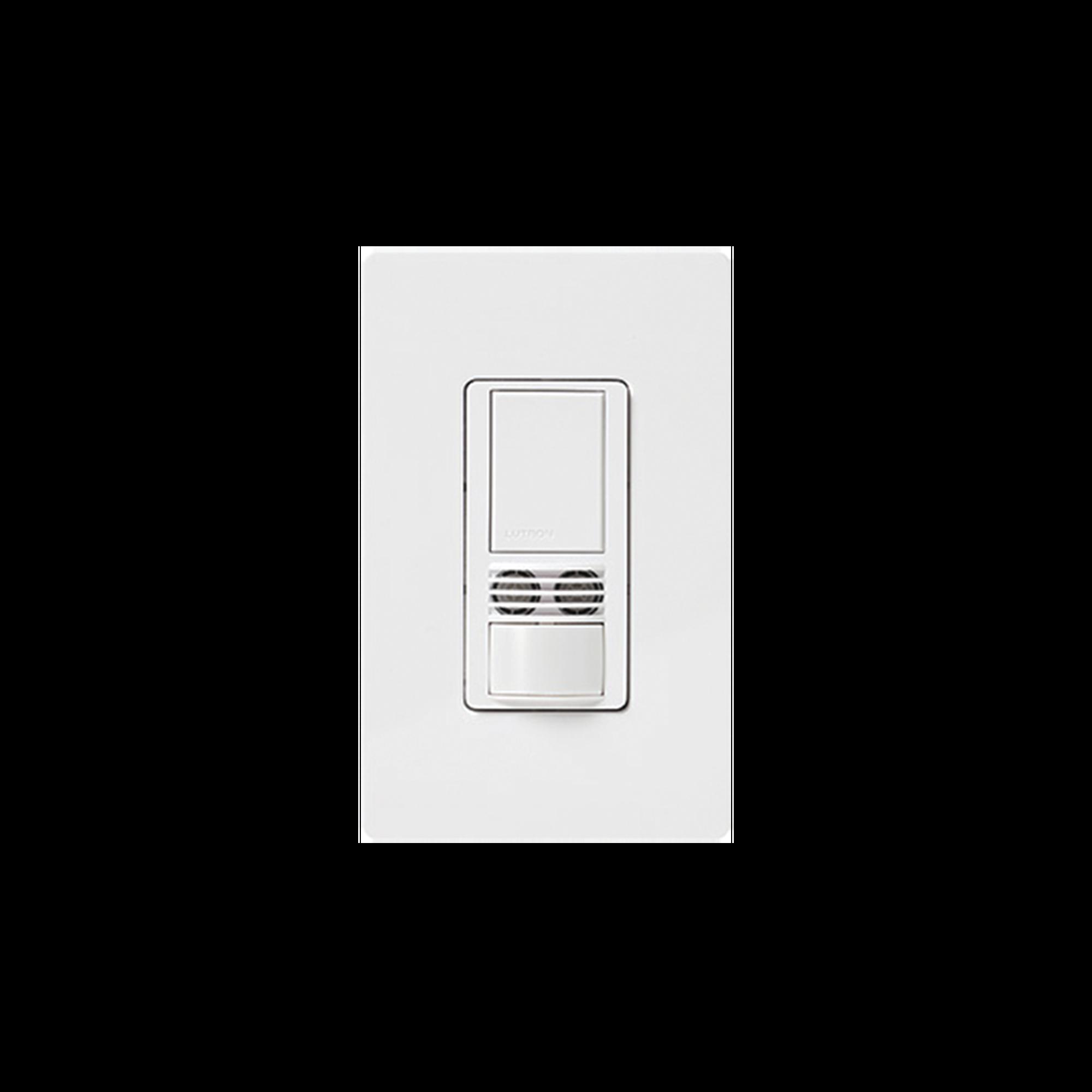 MAESTRO, Sensor switch, occupancy, multilocacion / un solo polo requiere neutro 120-227, 6A, color blanco