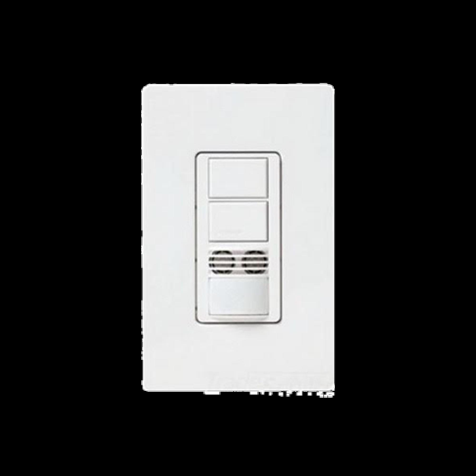 Interruptor con Sensor de Ocupación, Doble Tecnología Para Detección de Movimiento, Color Blanco
