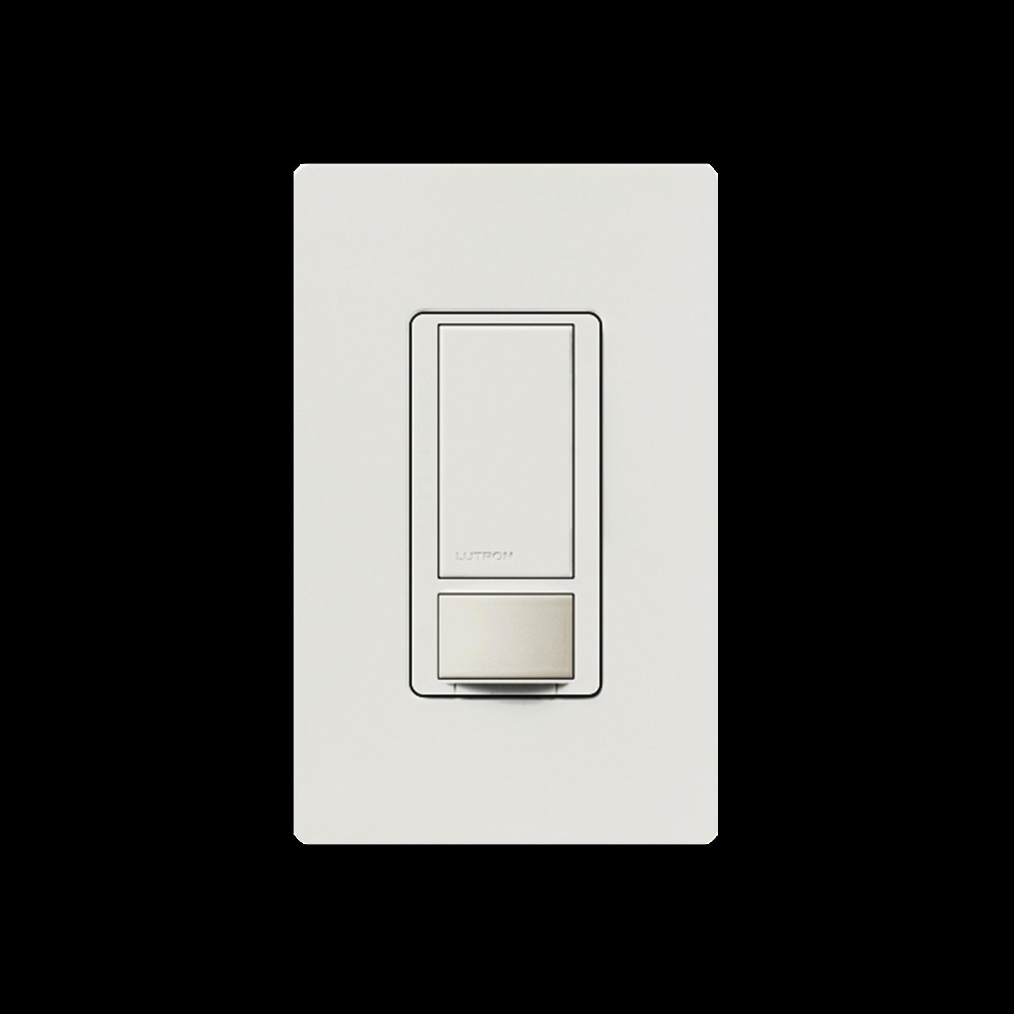 Switch on/off / Linea Maestro Switch con sensor de ocupación, multilocacion / un solo polo 120V/2A, color blanco.