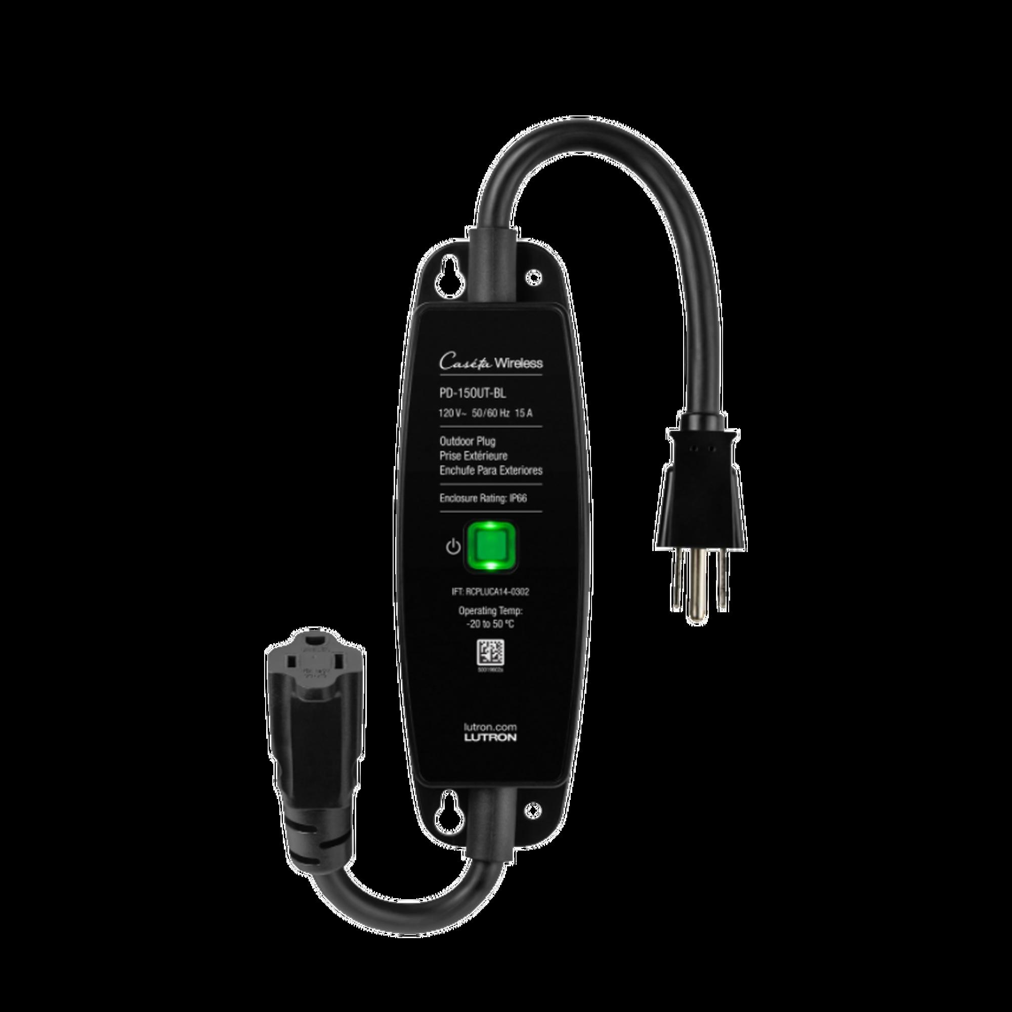 Plug para uso en exterior, inalambrico compatible con Caseta Wireless