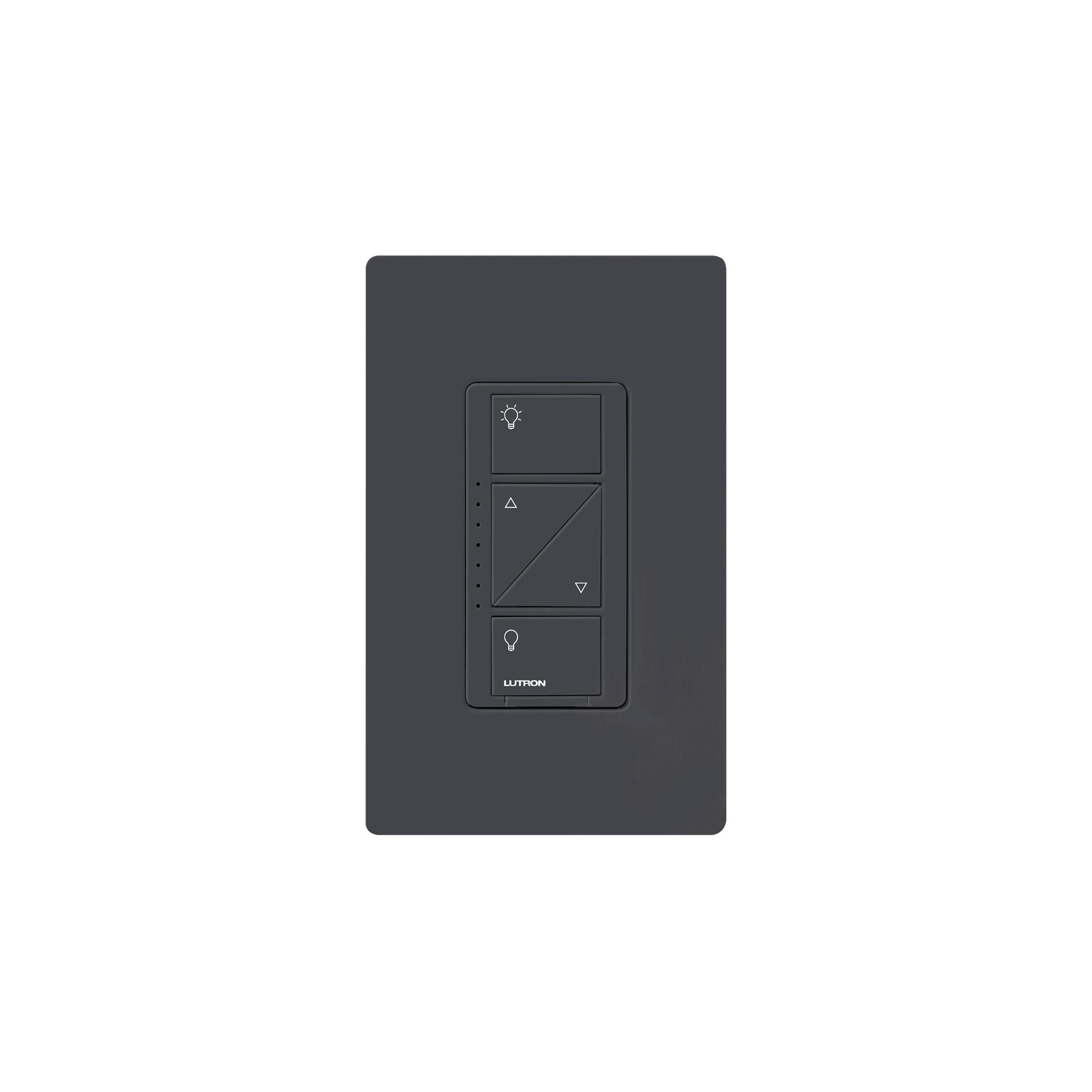 Atenuador (Dimmer) de pared. Aumenta/Disminuye Intensidad de Iluminacion. No requiere cable neutro, integrable al HUB de Caseta y su App.