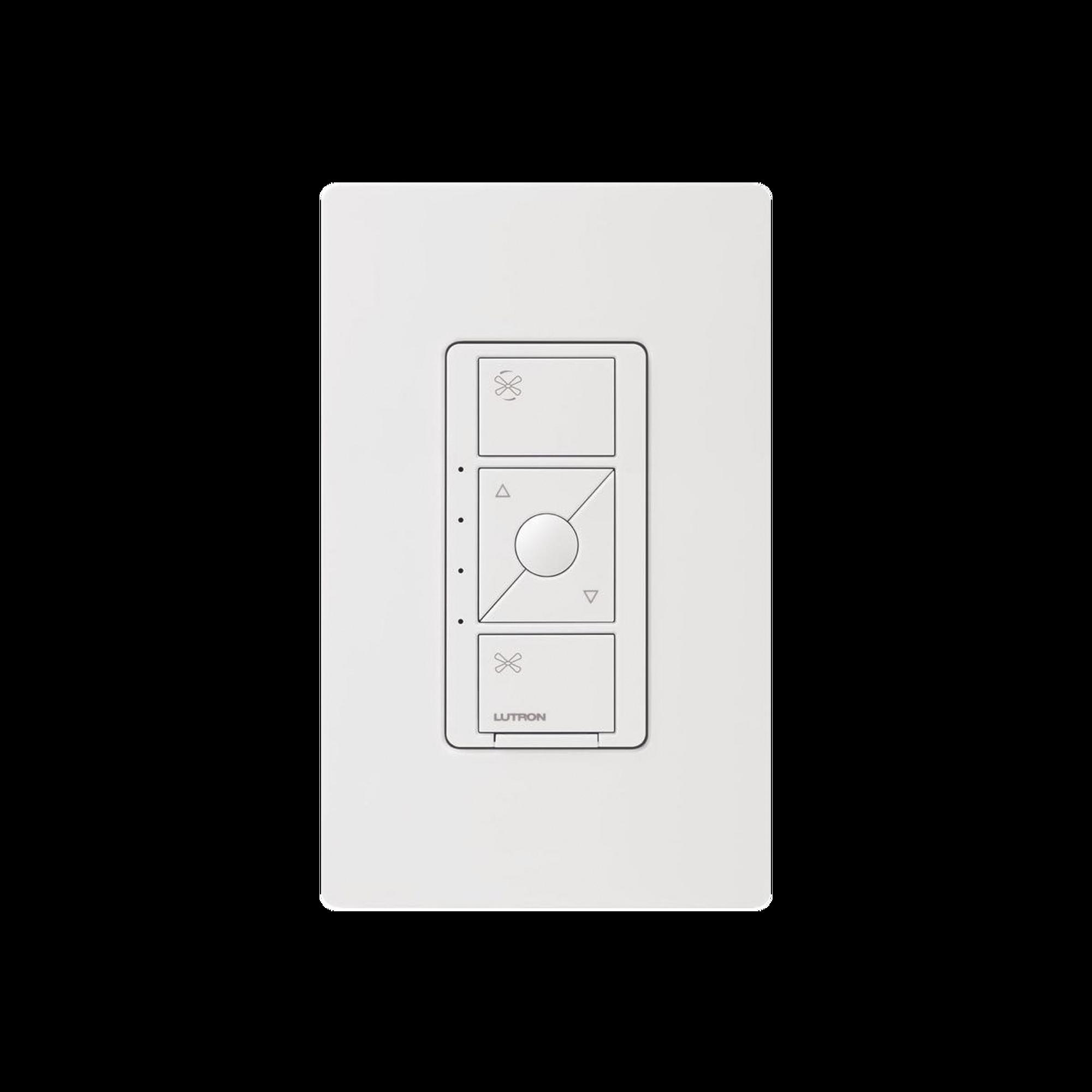 Control de velocidad inalámbrico inteligente de ventilador en techo, un solo polo, funciona con los principales controles de voz Alexa, HomeKit y Google Home..