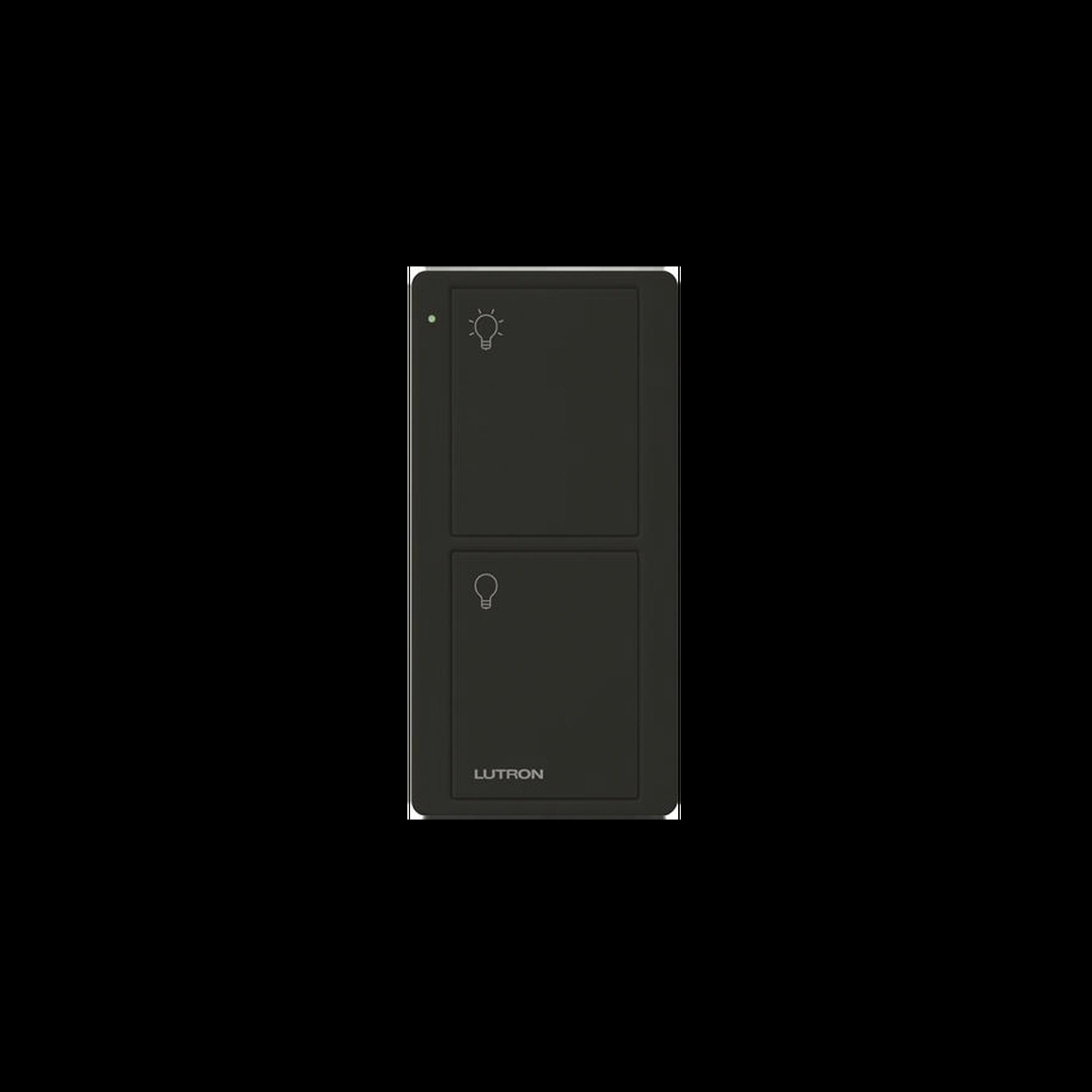 Control remoto PICO 2 botones encender/apagar, color negro, complemente con un switch on/off, Caseta, RA2, RadioRa2