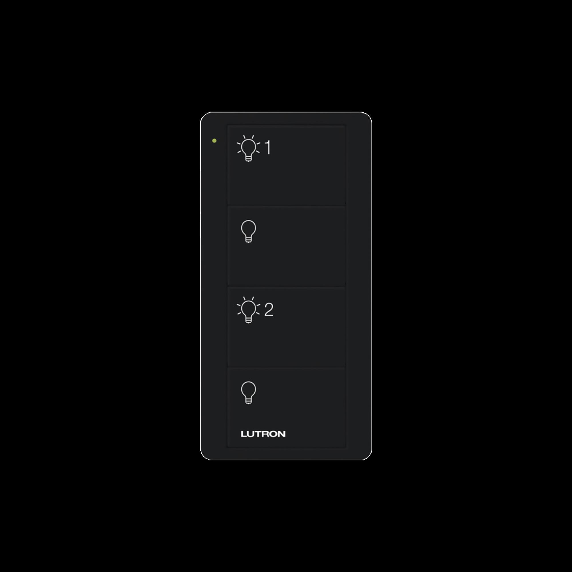 Control remoto PICO inalámbrico con 4 botones  encender/apagar grupo/escenas,  complemente con un atenuador o switch on/off