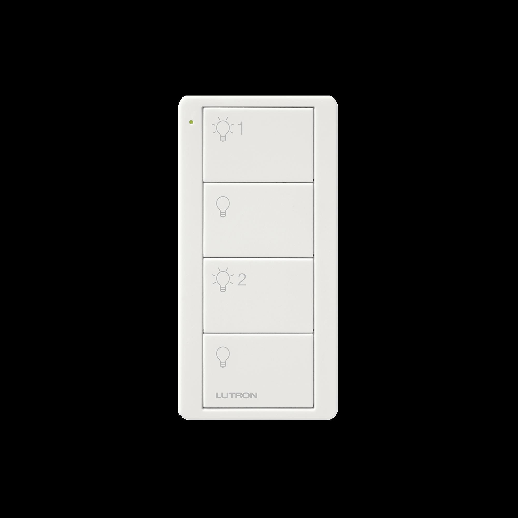 Control PICO 4 botones, 2 grupos, complemente con un atenuador o switch on/off