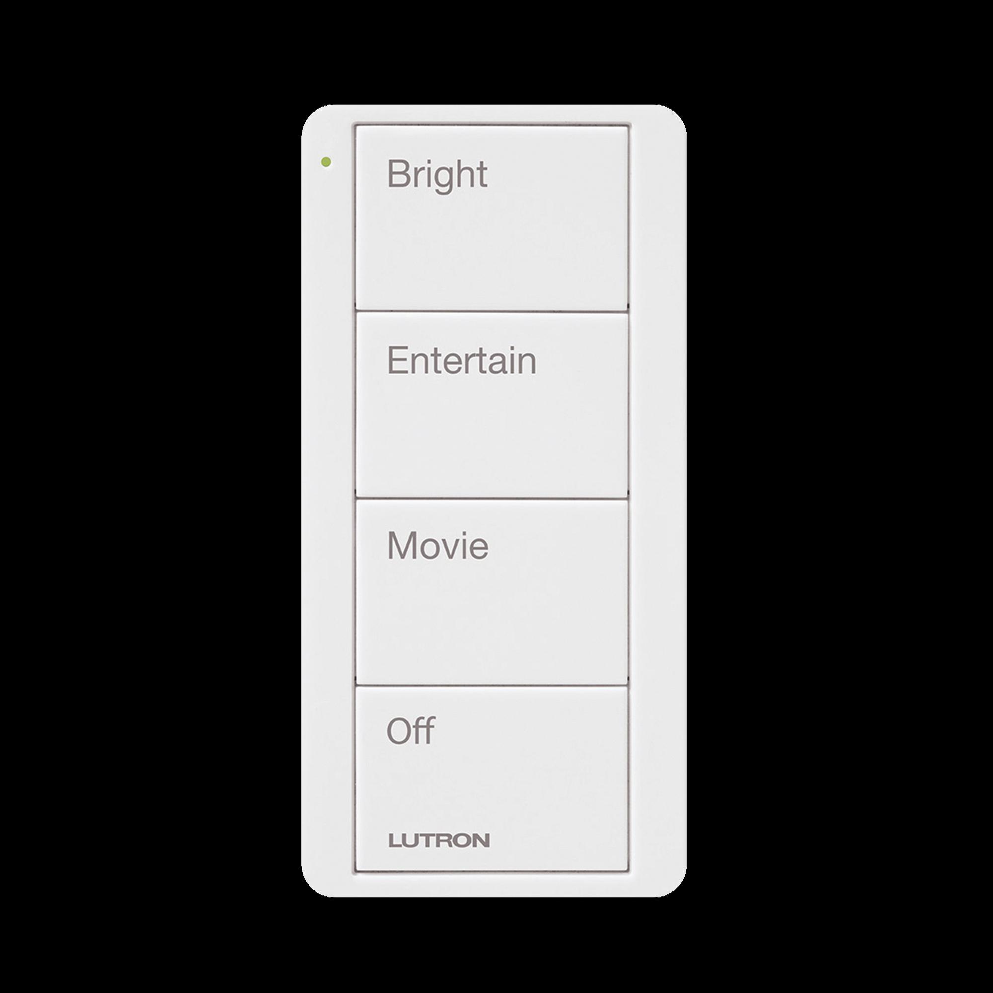 Control inalambrico PICO, 4 botones para con escenas ya predefinidas y grabado.