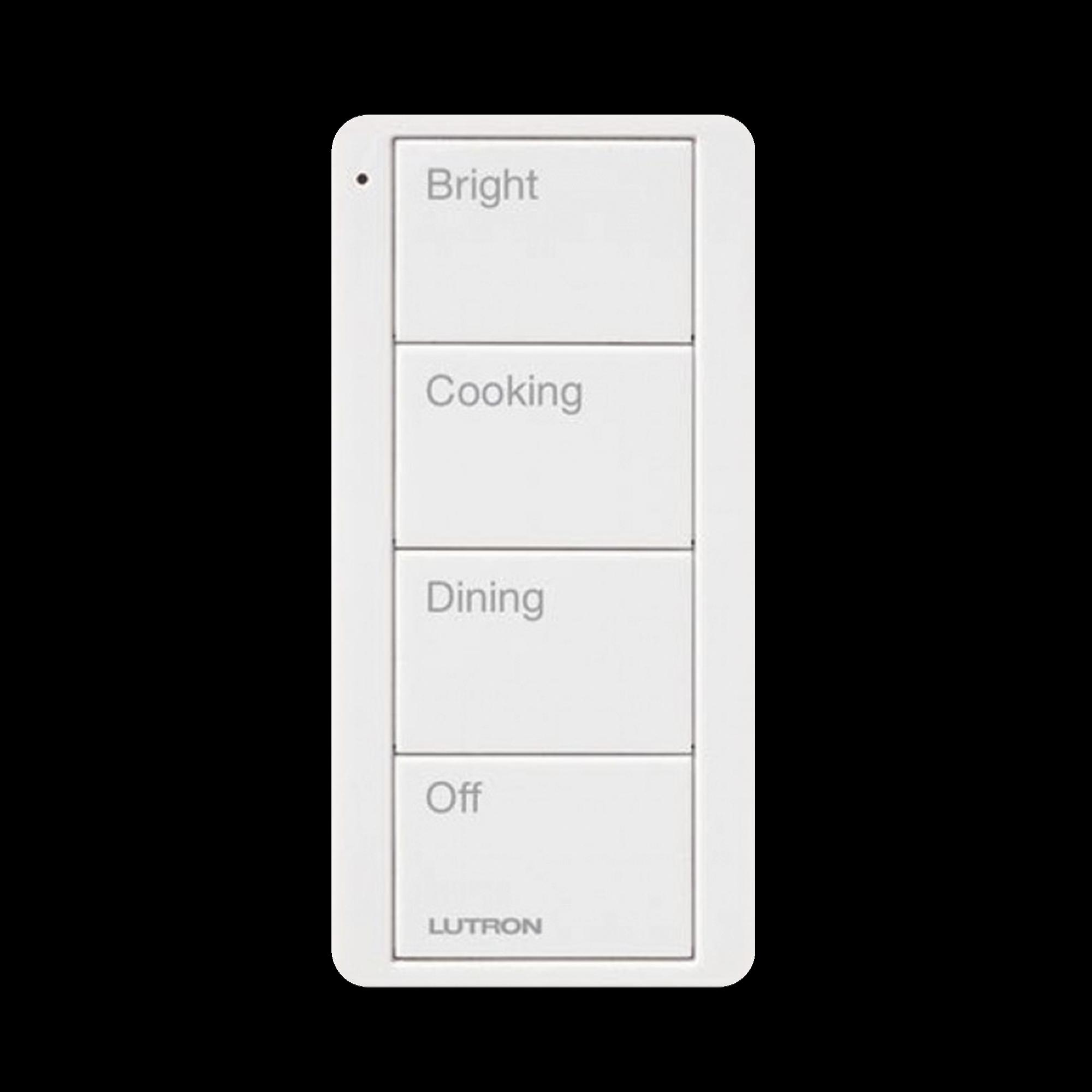 Control remoto inalambrico PICO, con escenas predefinidas para espacio en cocina.