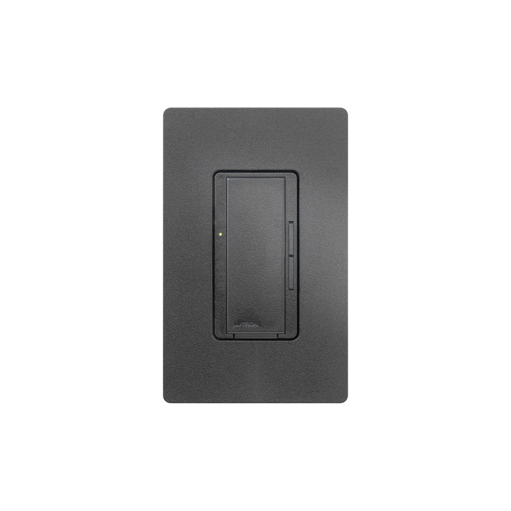 Atenuador (dimmer) un solo polo/multilocación 120VCA/600W (INC/MLV/HAL) o 150W (CFL/LED), apaga, enciende y atenúa iluminación.color negro