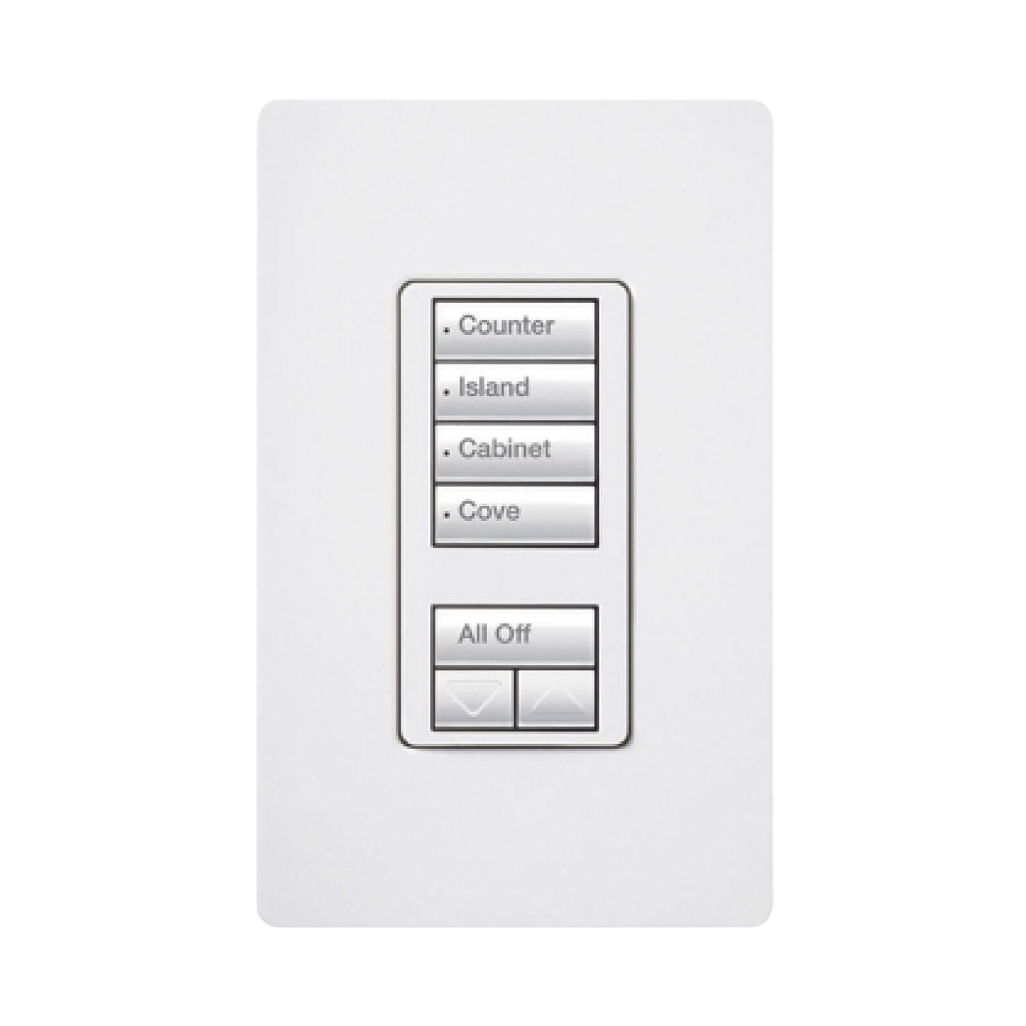 Botonera 4 botones hibrida, requiere cable neutro para el control del circuito.