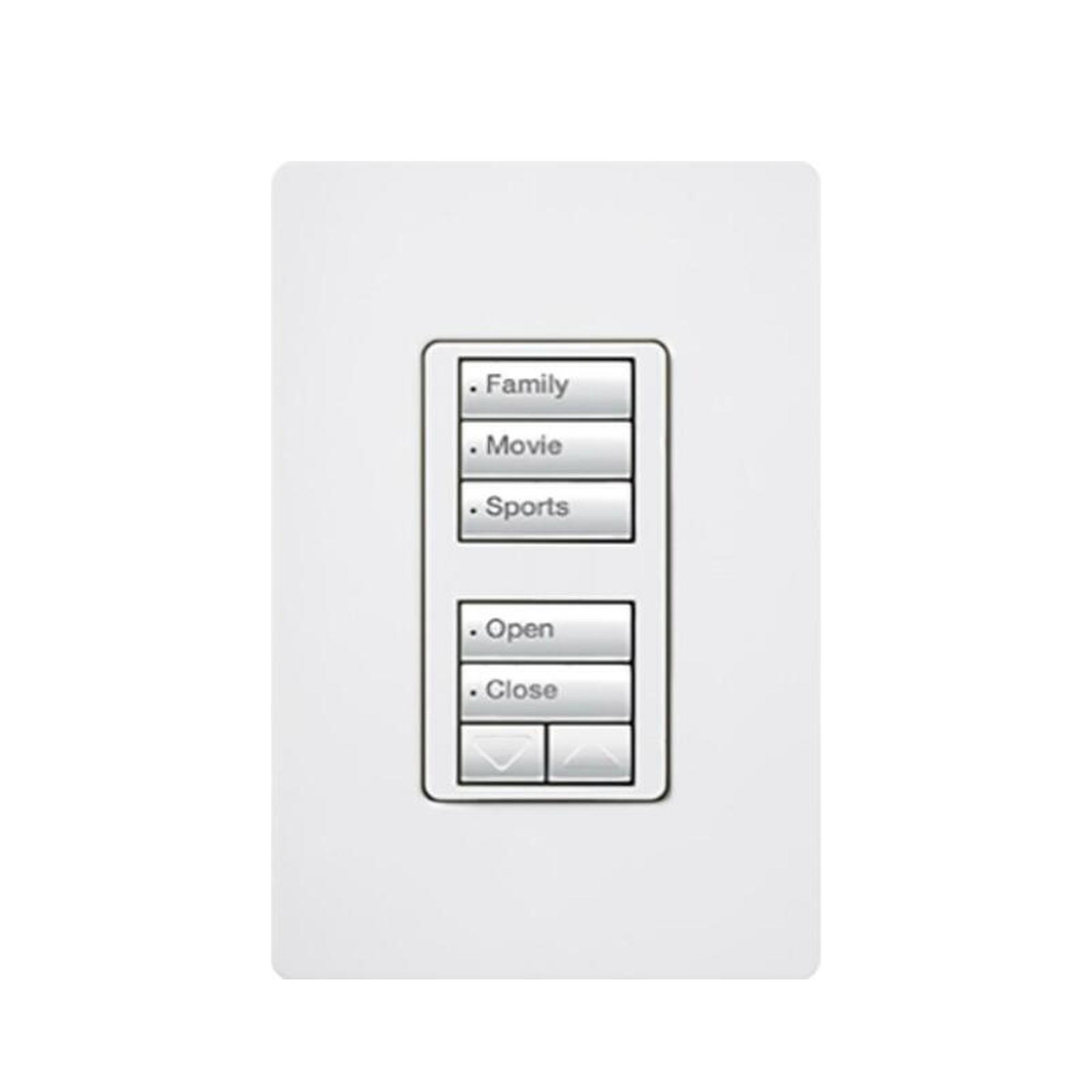Teclado seetouch 5 botones, 2 botones subir/bajar, programe escenas diferentes en cada botón.