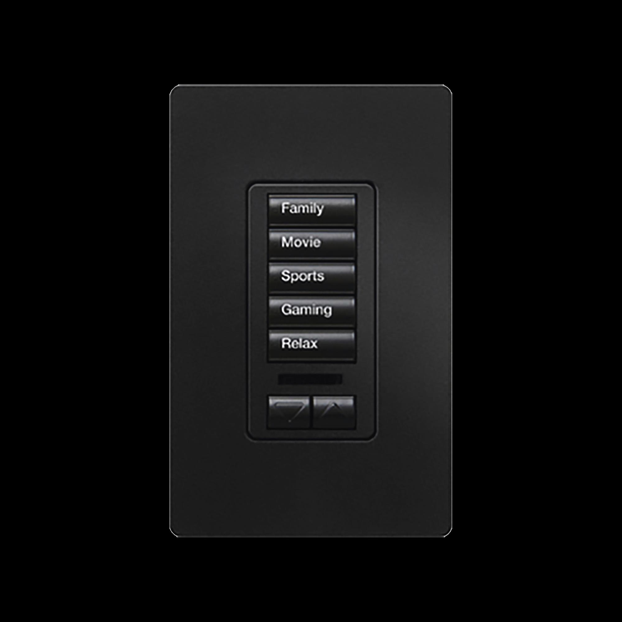 Teclado seetouch 5 botones, programe escenas diferentes en cada botón