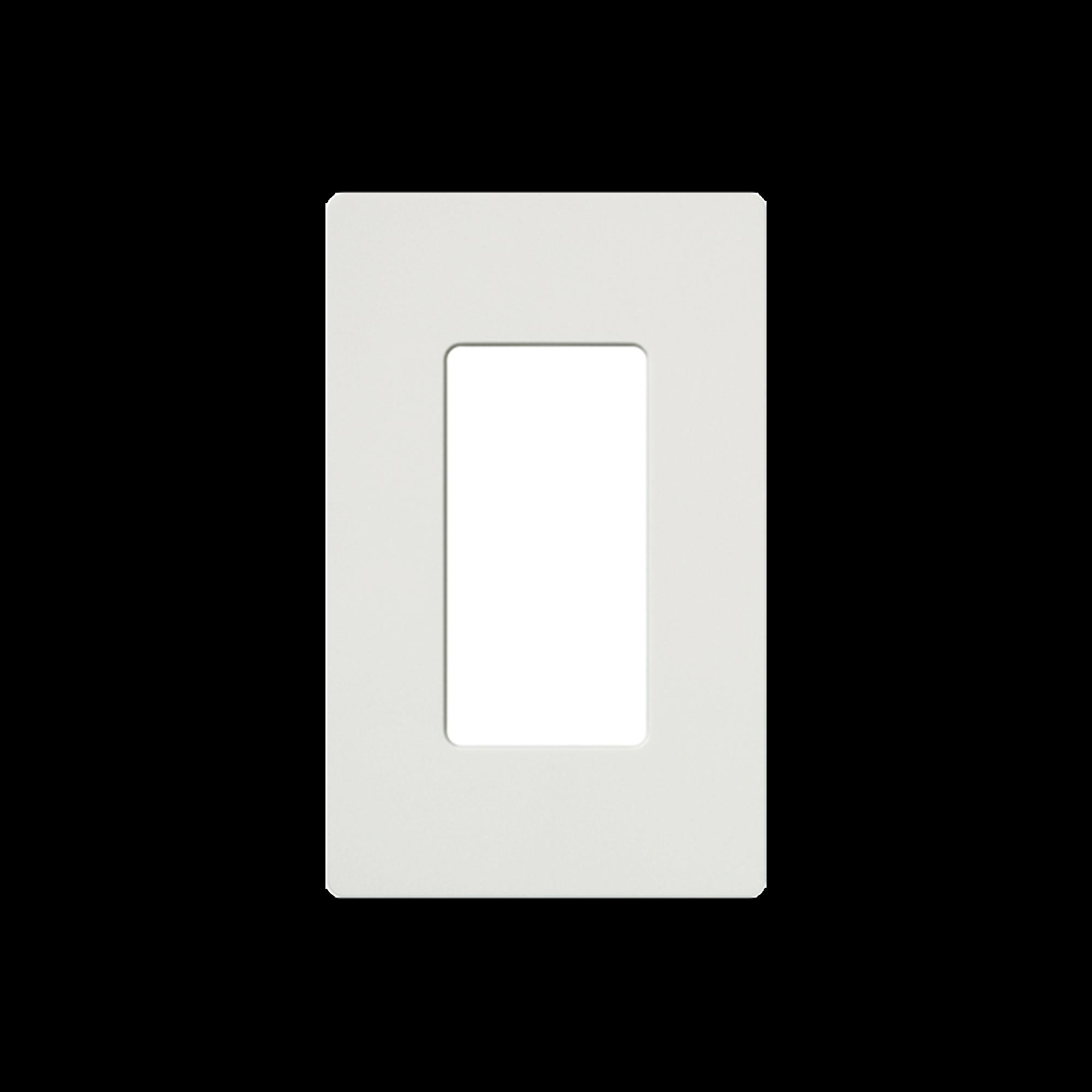 Placa de pared 1 espacio, para atenuador (dimmer), apagador ó control remoto inalámbrico LUTRON.