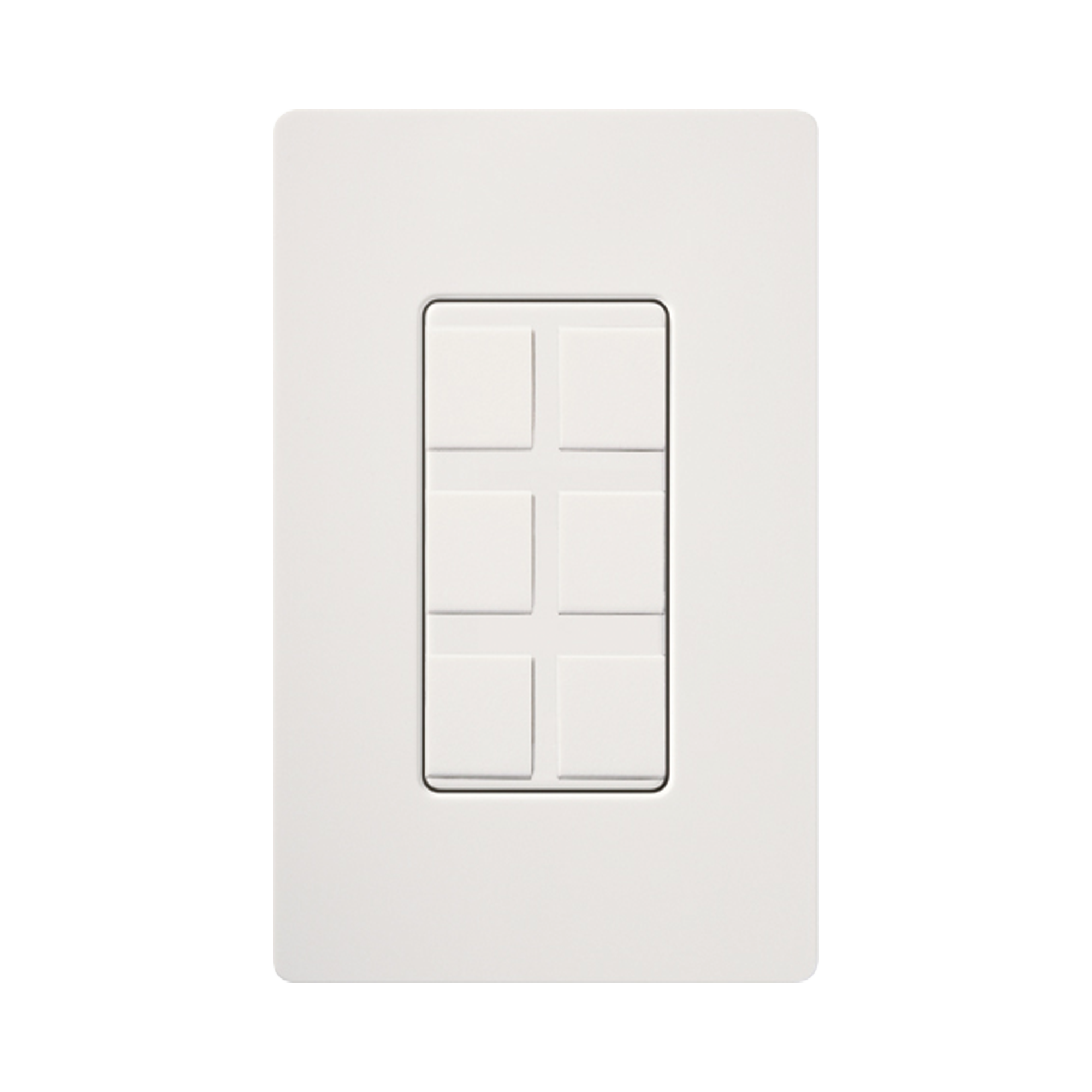 Caja de pared para contactos varios, 6 mini espacios.