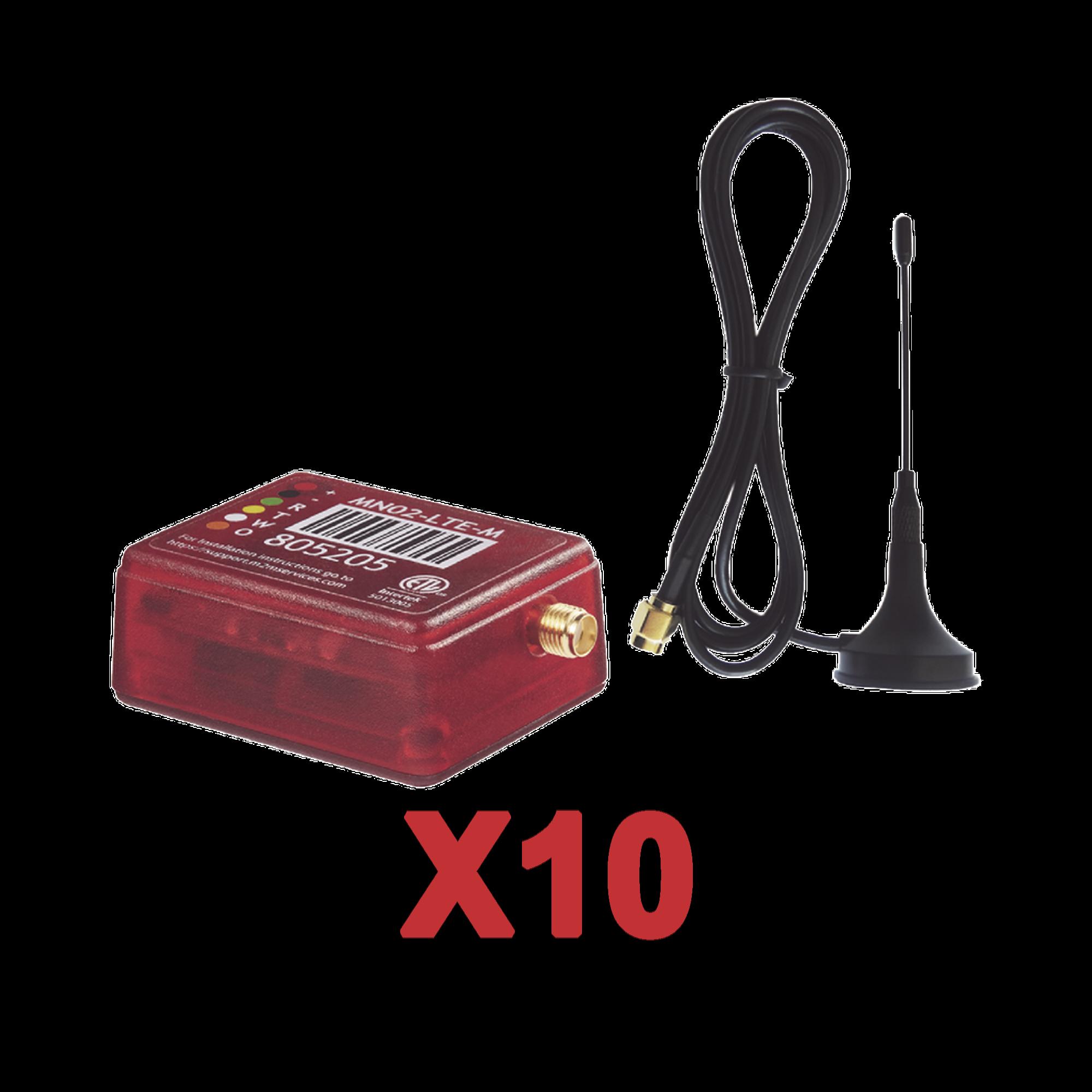 KIt de 10 Comunicadores de Alarma MN02LTEM con Antena 4GLTEM and 5G / Incluyen 2 A�os de Cobertura / Aplicacion Gratuita / Cero Configuracion / Compatible Honeywell/DSC/CROW/PIMA