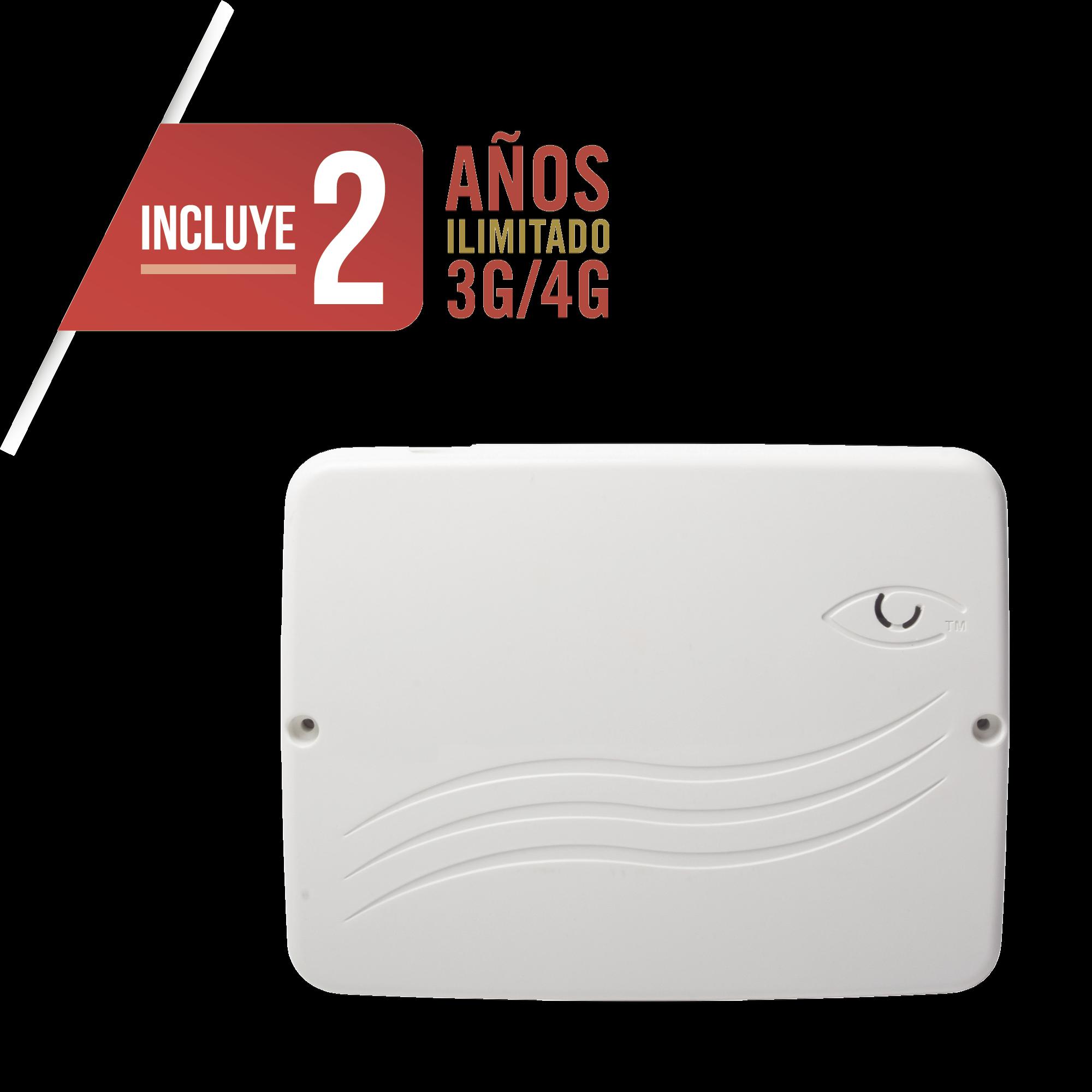 Panel de Alarma Cloud Híbrido 4G LTE / 8 Zonas Cableadas, 32 Inalámbricas / INCLUYE 2 AñOS 3G/4GLTE ILIMITADOS / Programación 100% vía WEB / ALTA SEGURIDAD