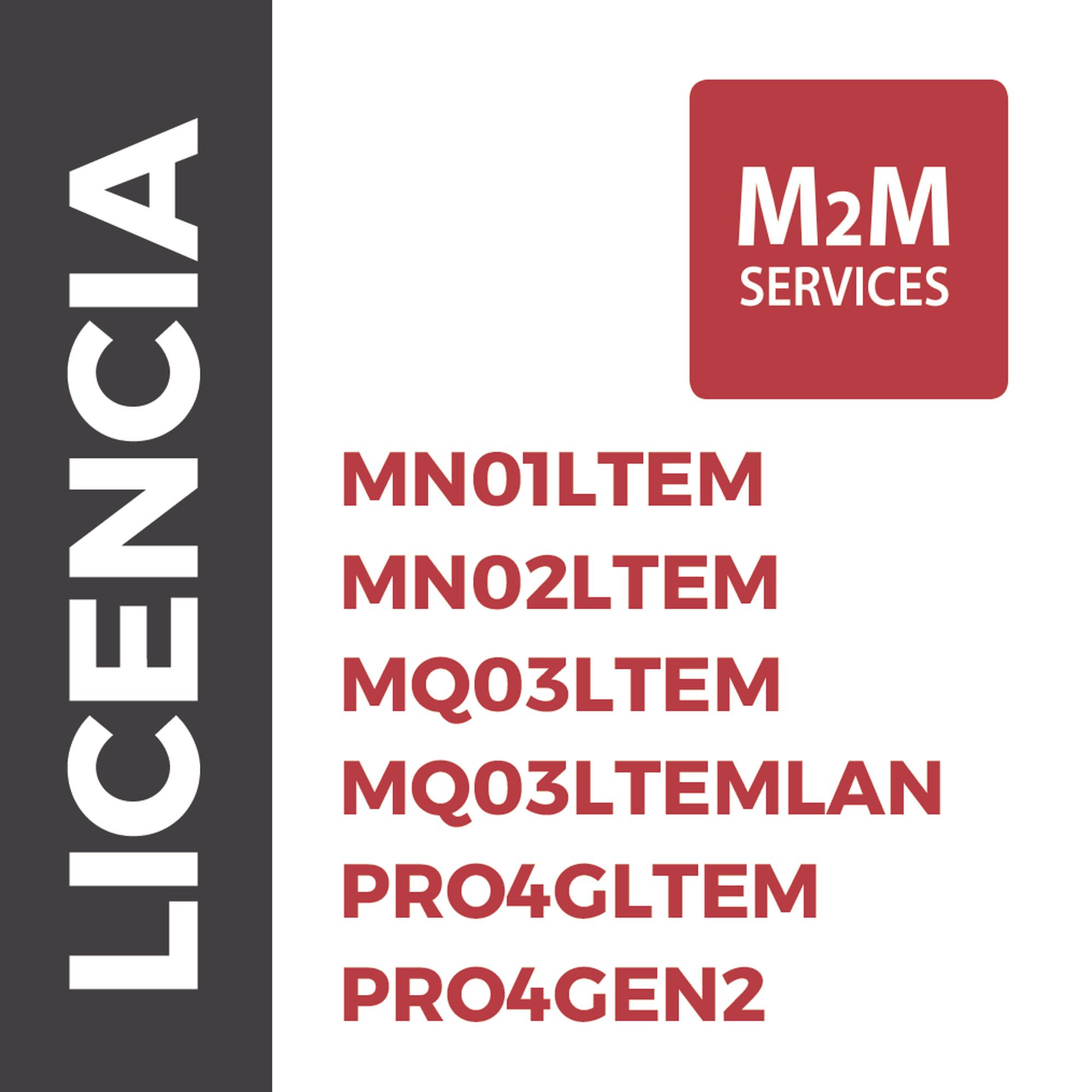 Servicio de datos 4GLTE/5G por un Año para MN02LTEM / PRO4GLTEM/ MQ03LTEM con eventos ilimitados.