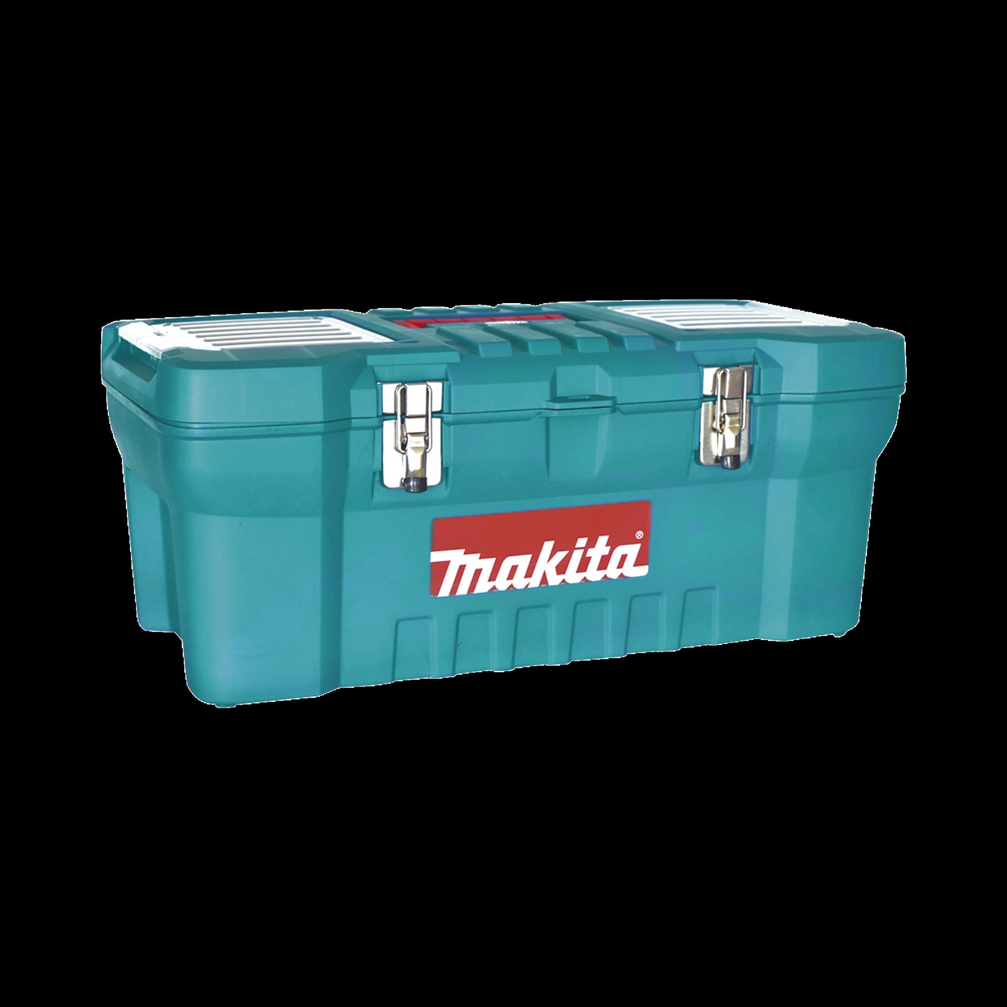 Caja de herramientas de 24 con doble cerradura de metal