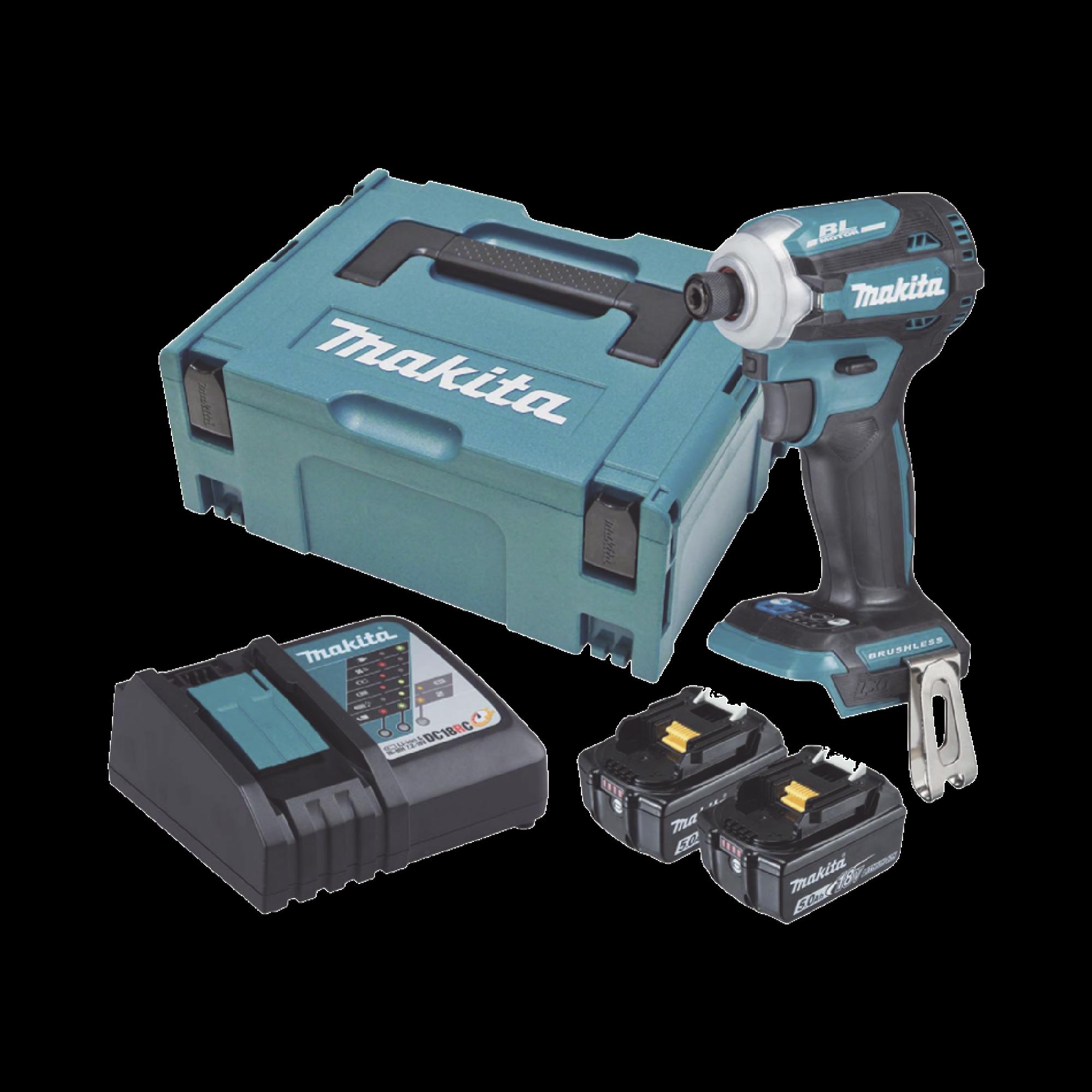Atornillador de Impacto 18 Vcd, 3,800 RPM, 180N.m. Incluye: estuche MAKPAC, Cargador y 2 Bat. 5Ah