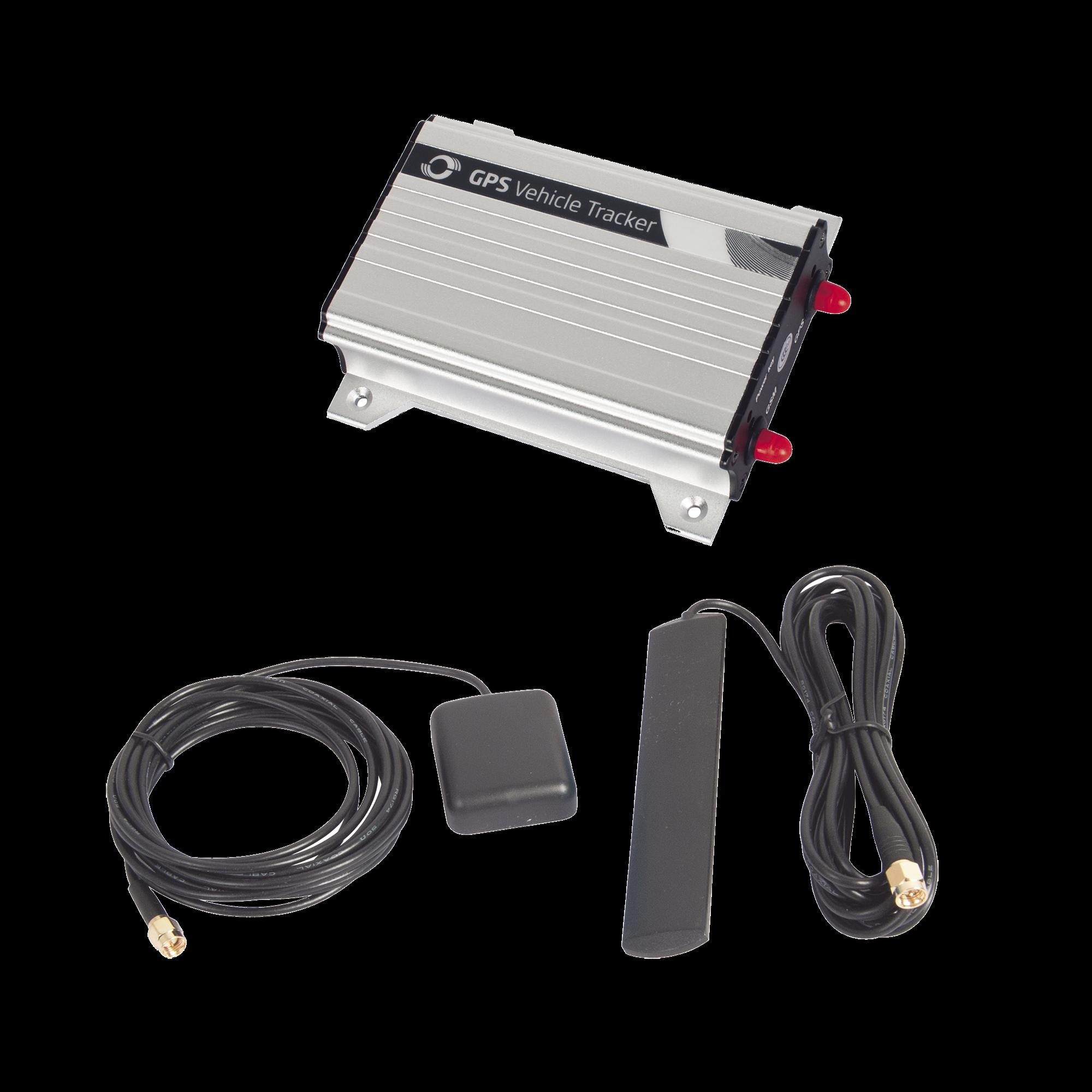 Robusto y Confiable Localizador Vehicular 3G Con Antenas Externas, múltiples entradas y salidas (opción para audio bidireccional y cámara fotográfica), Carcasa de Aluminio para Lugares Con Altas Temperaturas.
