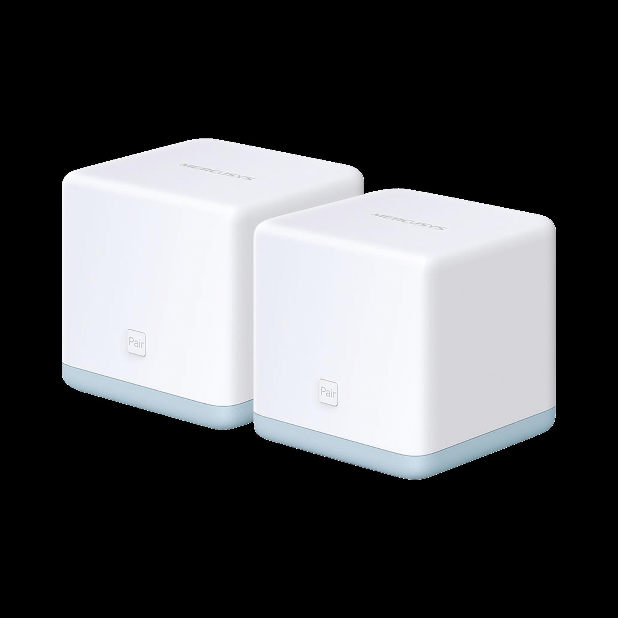 KIT de sistema inalambrico HALO S12 Mesh para hogar, 2.4GHz y 5GHz AC 1200Mbps, doble puerto 10/100Mbps, control parental.