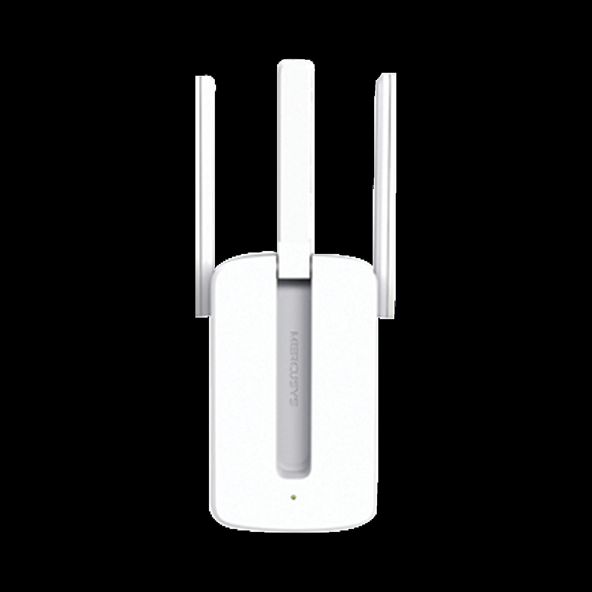 Repetidor / Extensor de Cobertura WiFi N, 300 Mbps, 2.4 GHz y 3 antenas externas.