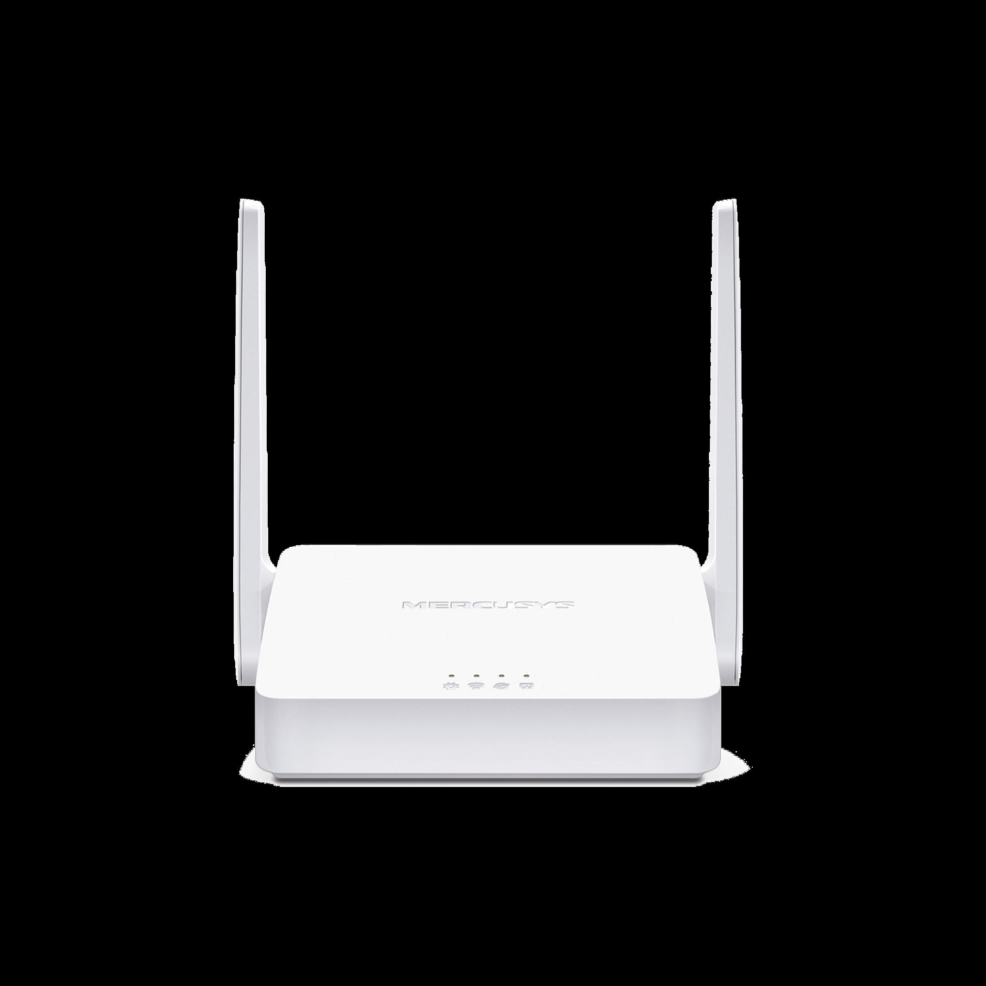Router Inalámbrico WISP N 2.4 GHz de 300 Mbps 1 puerto WAN 10/100 Mbps 2 puertos LAN 10/100 Mbps versión con 2 antenas de 5 dBi
