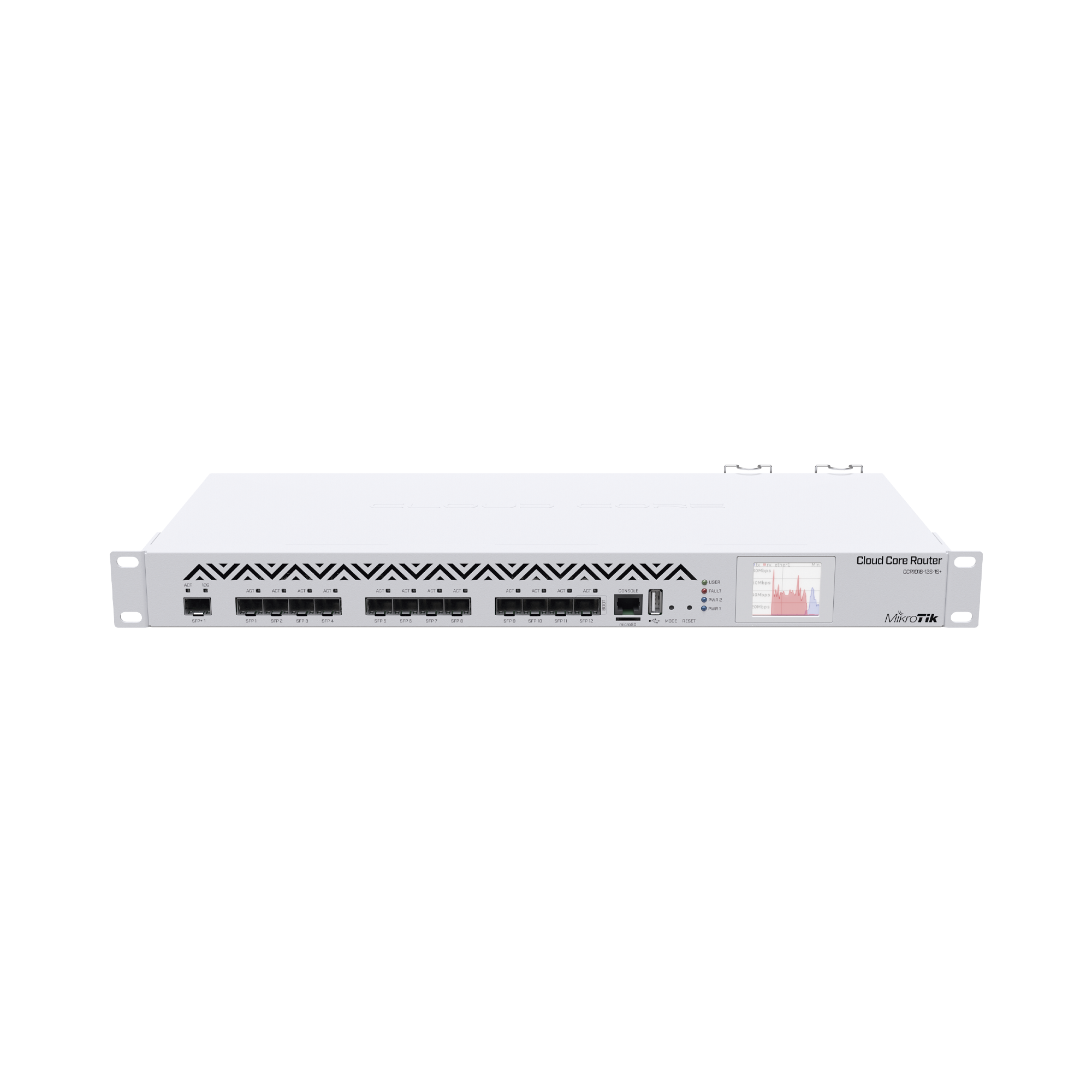 (CCR1016-12S-1S+) Cloud Core Router 12 puertos SFP, 1 SFP+ 10G, c/fuente redundante