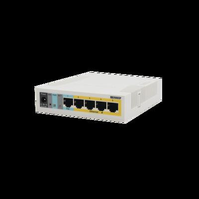(RB260GSP) Switch Mikrotik 5 puertos PoE (Pasivo) (1in/4out) Gigabit Ethernet y 1 SFP