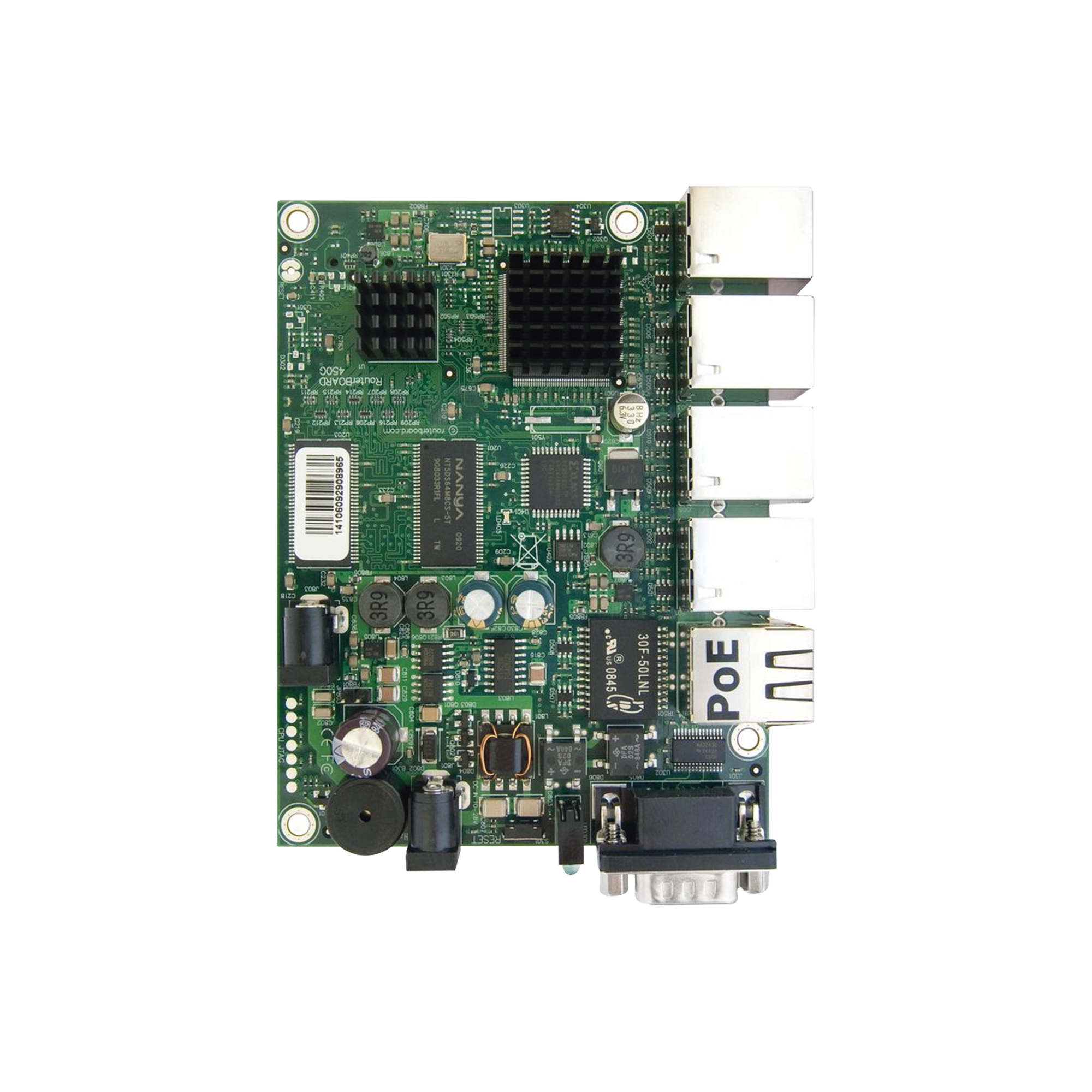 CPU de 680MHz, 256MB RAM, con 5 Puertos Gigabit Ethernet , Nivel de Licencia 5