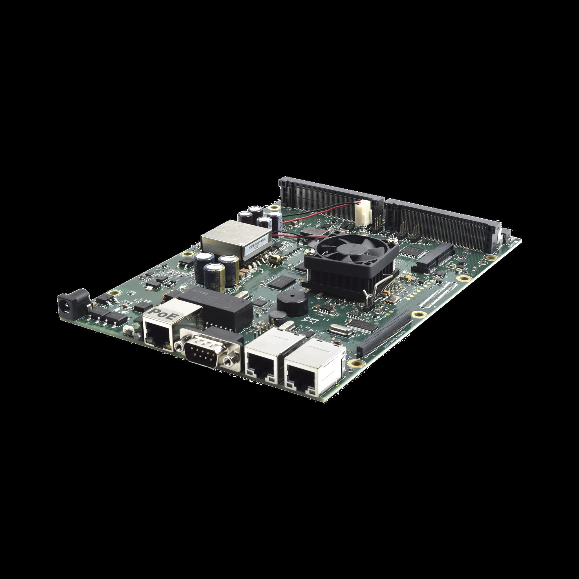 (RB800) RouterBOARD, 3 puertos Gigabit, 4 ranuras miniPCI de expansión  para ofrecer un MIMO 8x8