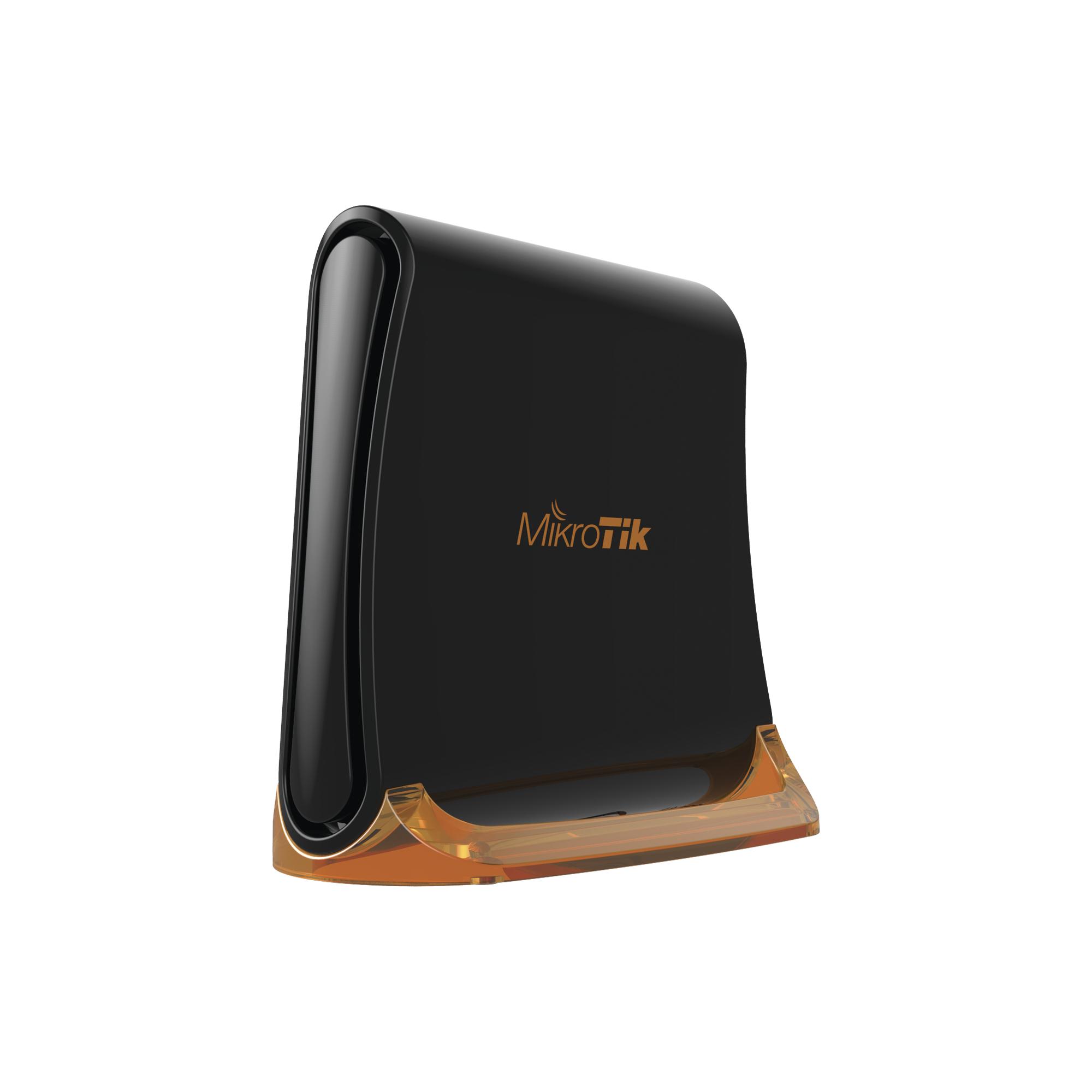 (hAP mini) Router 3 puertos 10/100 Mbps, Wi-Fi 2.4 GHz 802.11 b/g/n, Antena 360? 1.5 dBi, hasta 158 mW de potencia