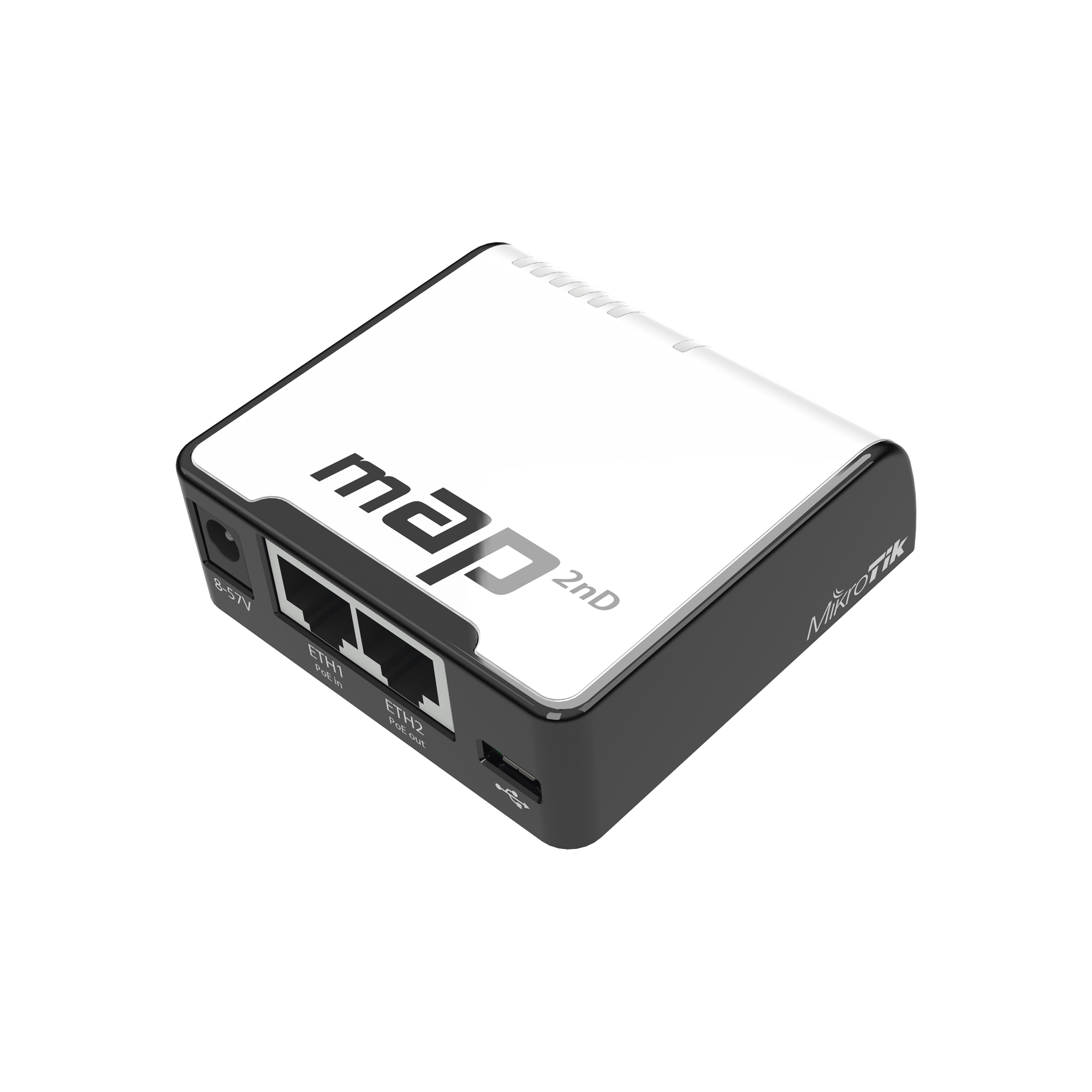(mAP) 2 Puertos Fast Ethernet, 1 Puerto MicroUSB, WiFi 2.4 GHz 802.11 b/g/n