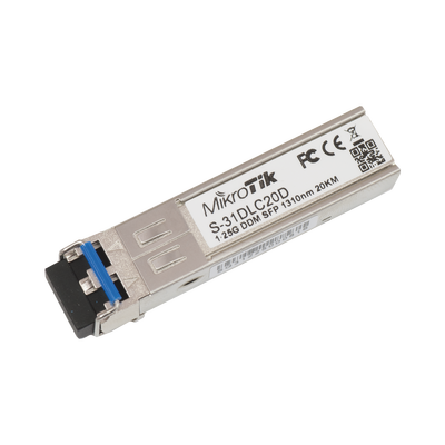 Transceptor MiniGbic SFP 1.25G LC Duplex para fibra Mono Modo 20 KM