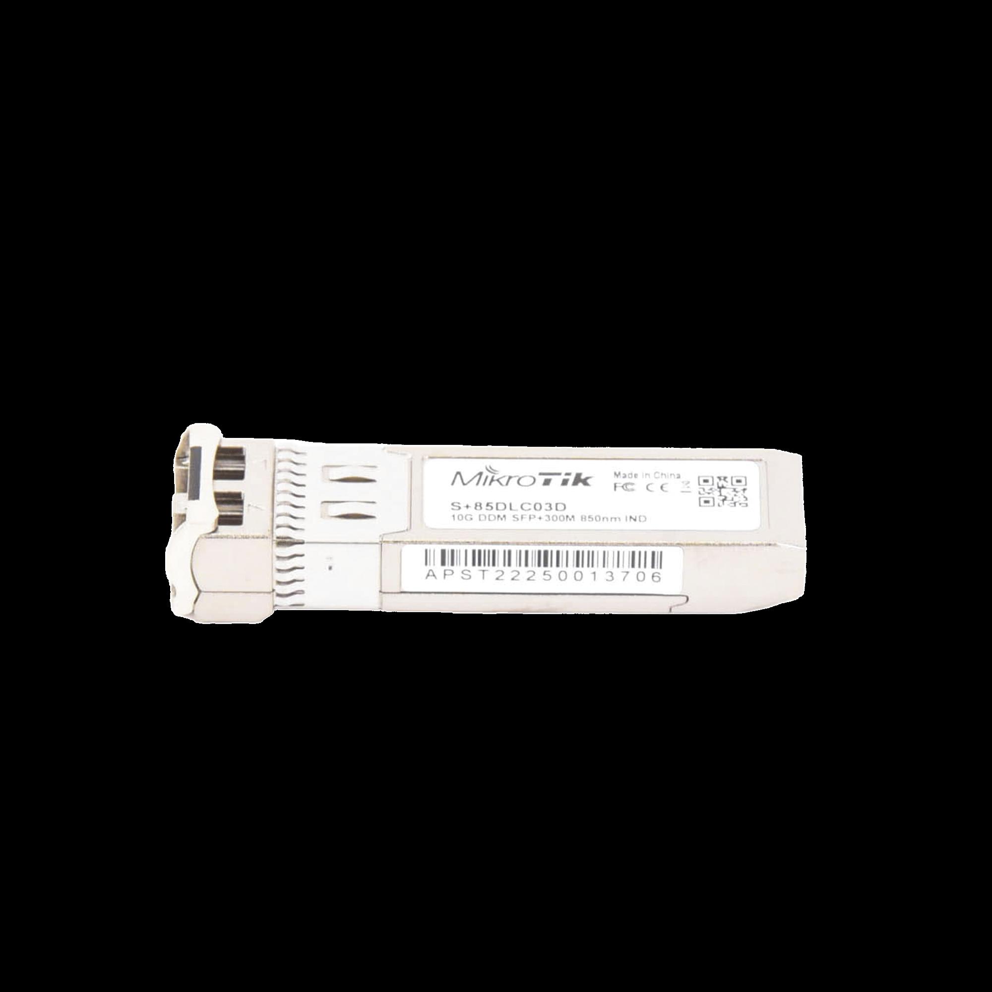 Transceptor MiniGbic SFP+ 10G LC Duplex para fibra Multi Modo 300mts