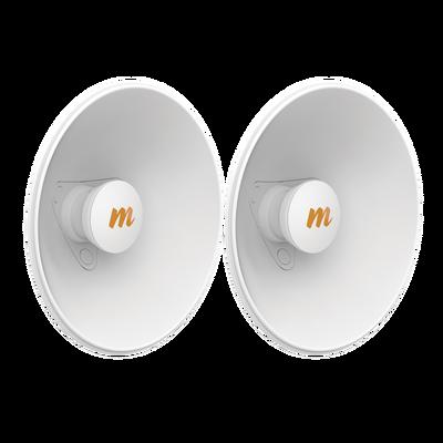 Par de Antenas Modulares Dual Slant, 4.9 - 6.4 GHz, Dimensiones (27 cm), Apertura 45°, Ganancia de 20 dBi, Diseñadas para radio C5x